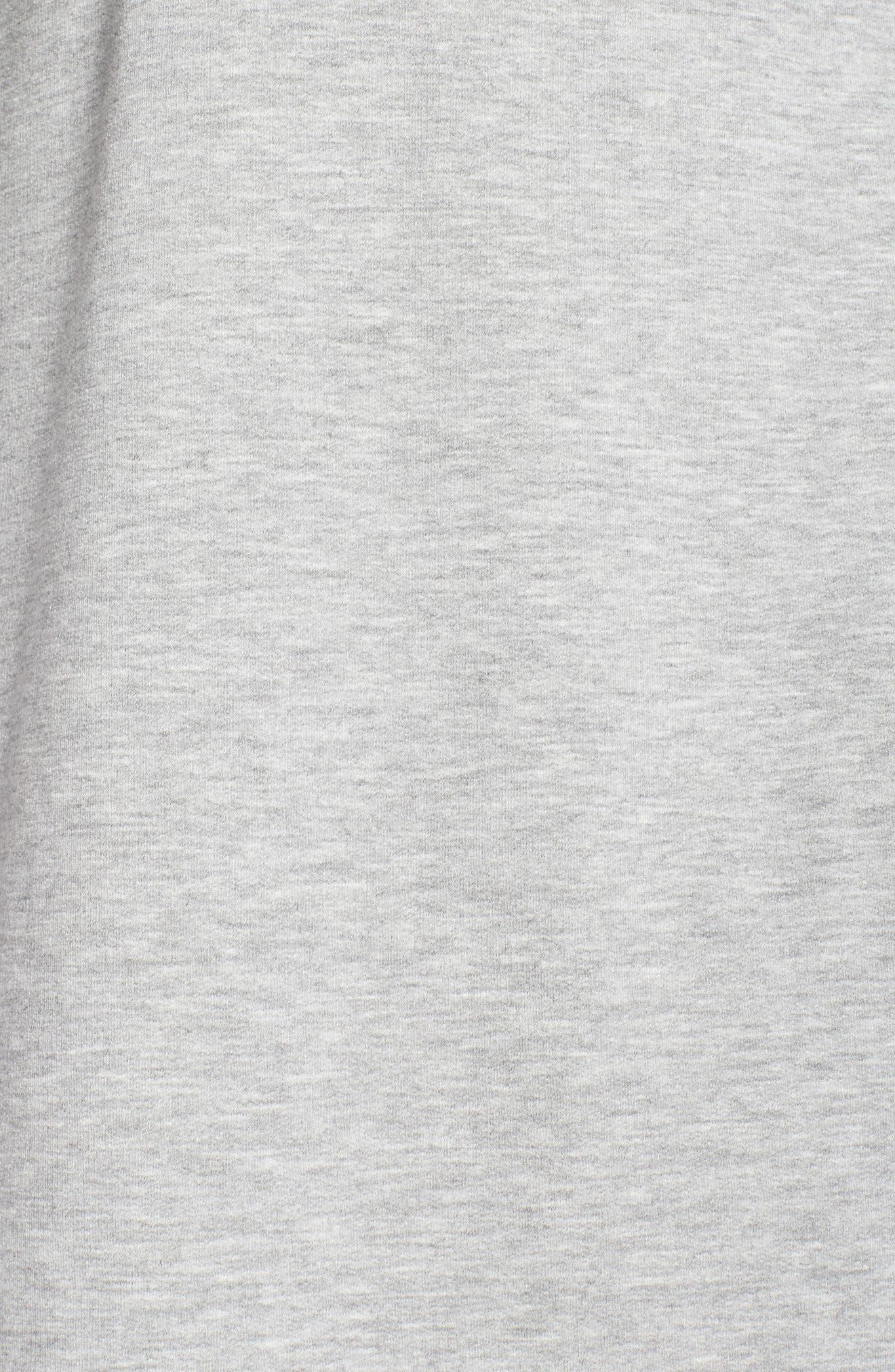Off-Duty Fleece Knit Cardigan,                             Alternate thumbnail 6, color,                             Grey Heather