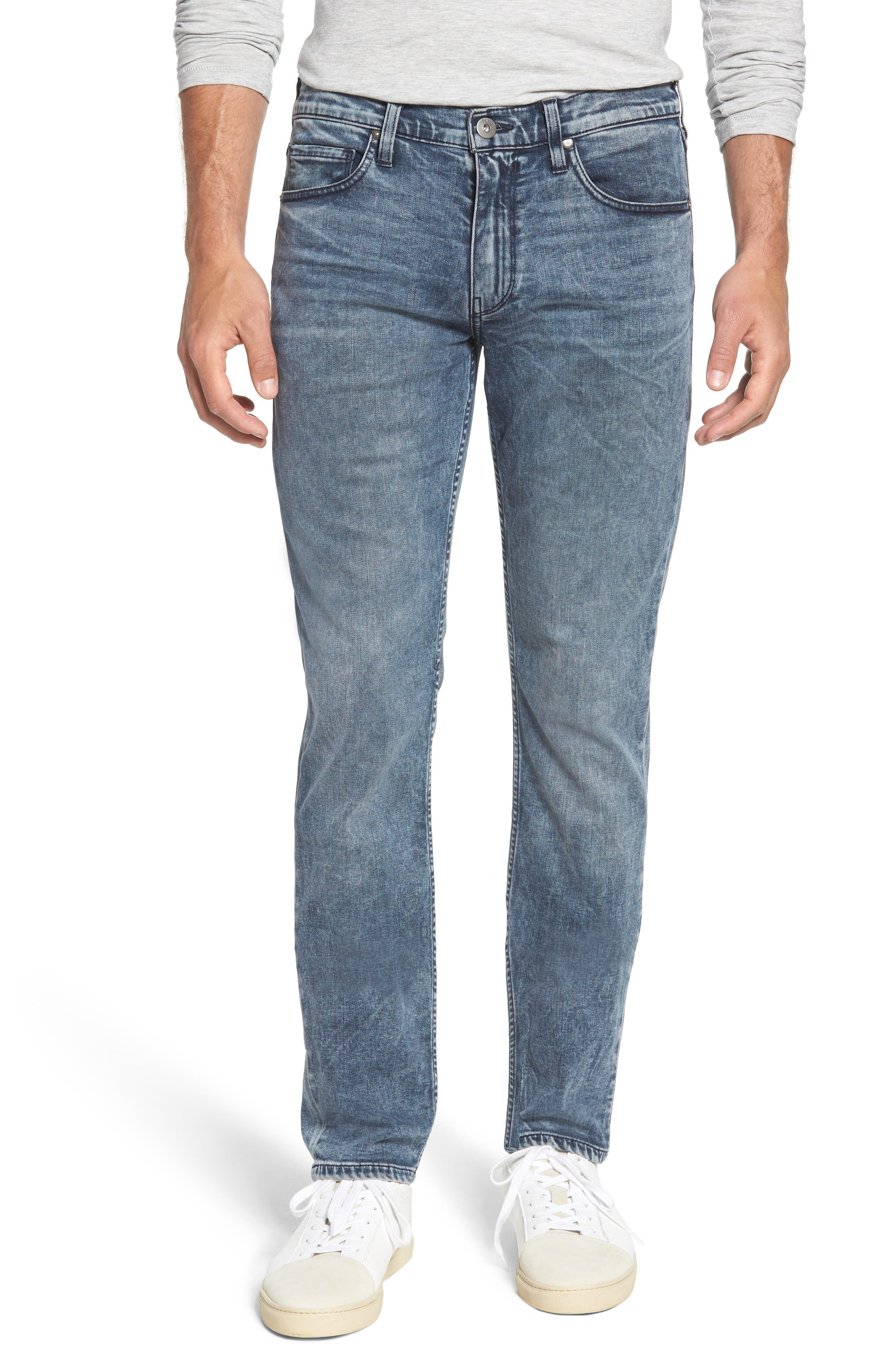Transcend - Lennox Slim Fit Jeans,                             Main thumbnail 1, color,                             Higgs