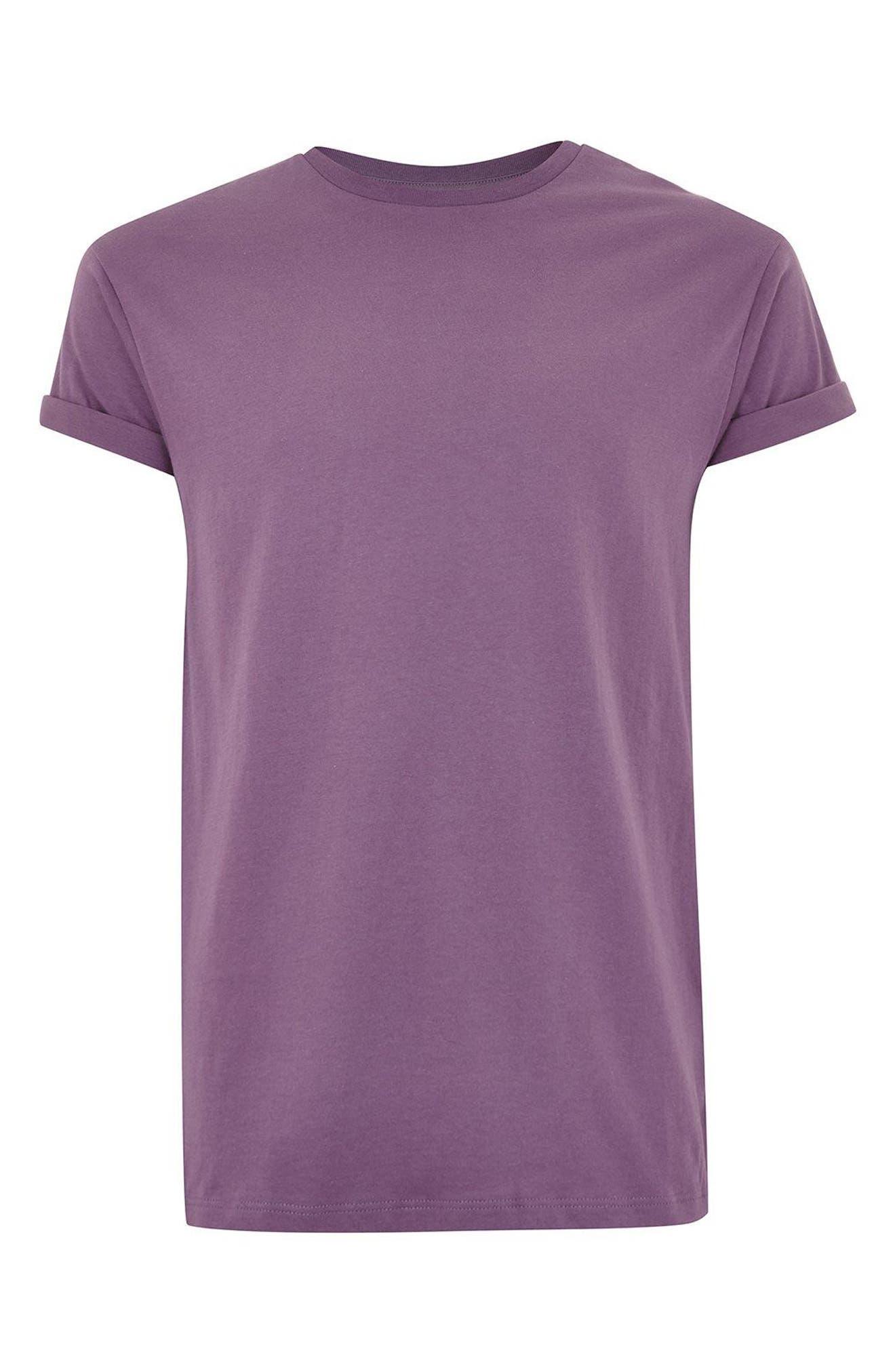 Muscle Fit Roller T-Shirt,                             Alternate thumbnail 4, color,                             Medium Purple