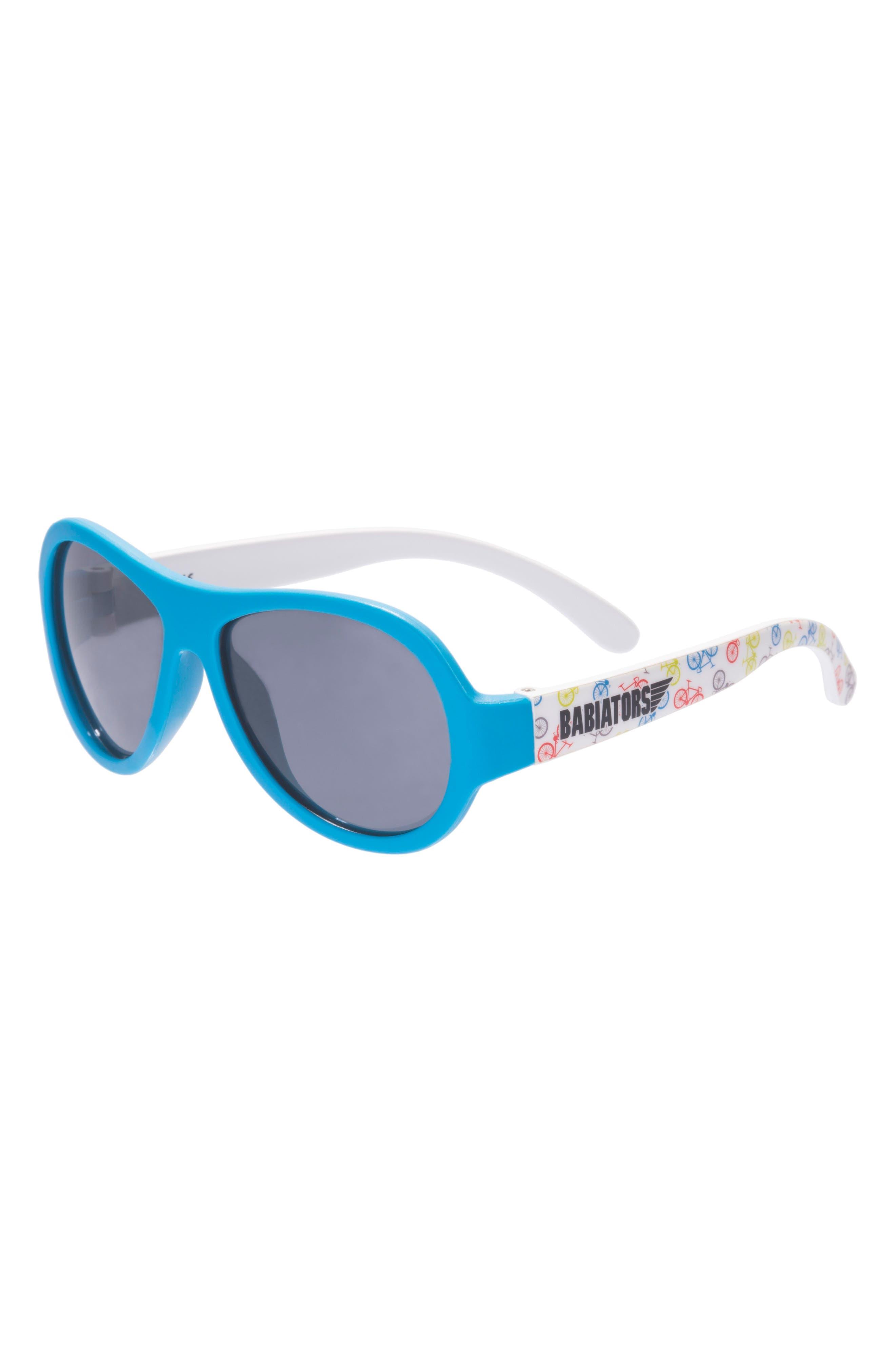 Bicycle Print Polarized Aviator Sunglasses,                         Main,                         color, Wheel Deal