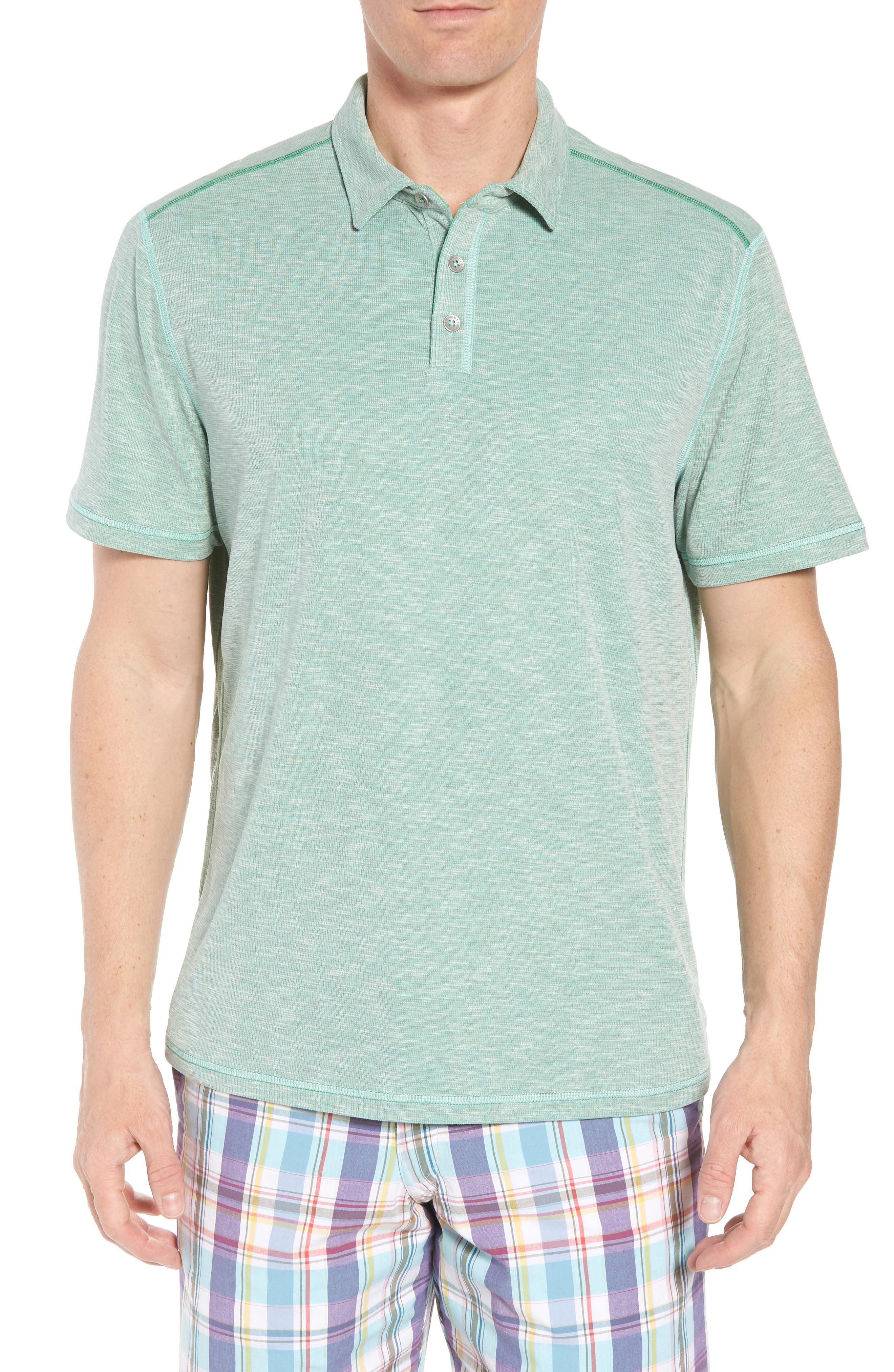 Flip Tide Tee Spectator Polo,                             Main thumbnail 1, color,                             Green Finch