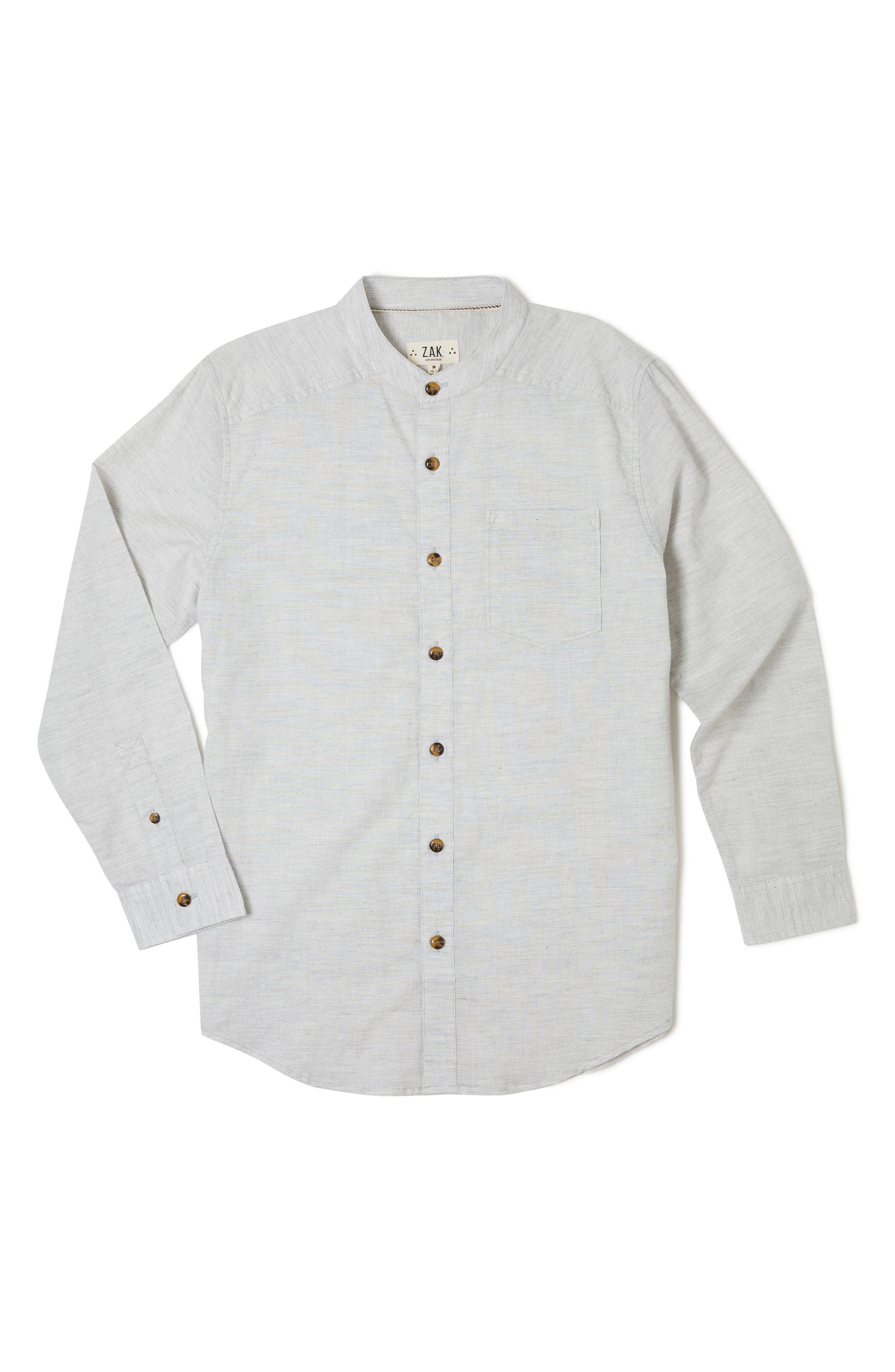 Rancho Long Sleeve Shirt,                             Main thumbnail 1, color,                             Grey