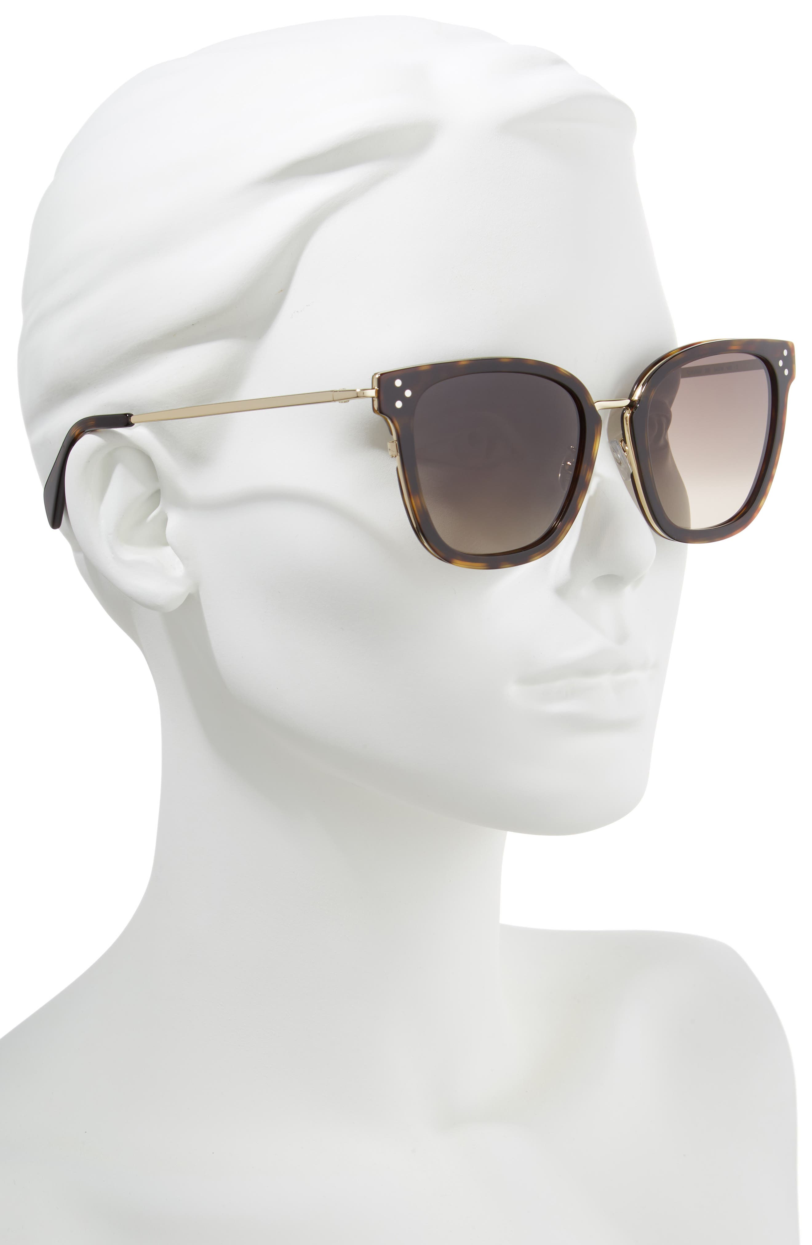 Special Fit 54mm Sunglasses,                             Alternate thumbnail 2, color,                             Havana/ Gold/ Brown