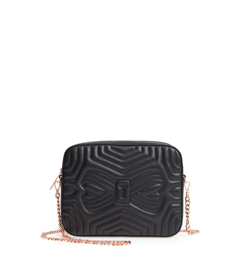 Ted Baker Quilted Leather Camera Bag Black