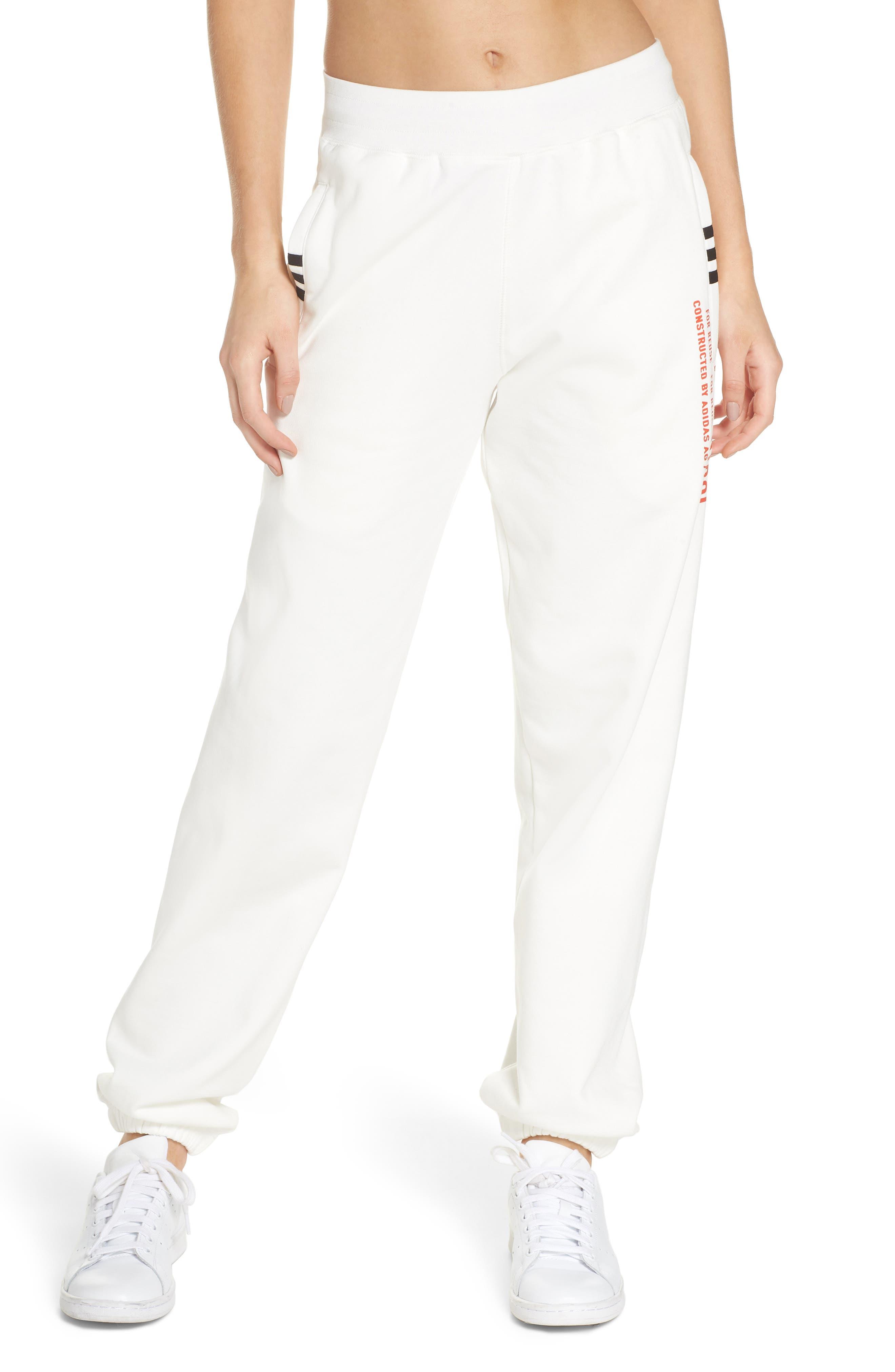Graphite Jogger Pants,                             Main thumbnail 1, color,                             White/ Orange/ Black