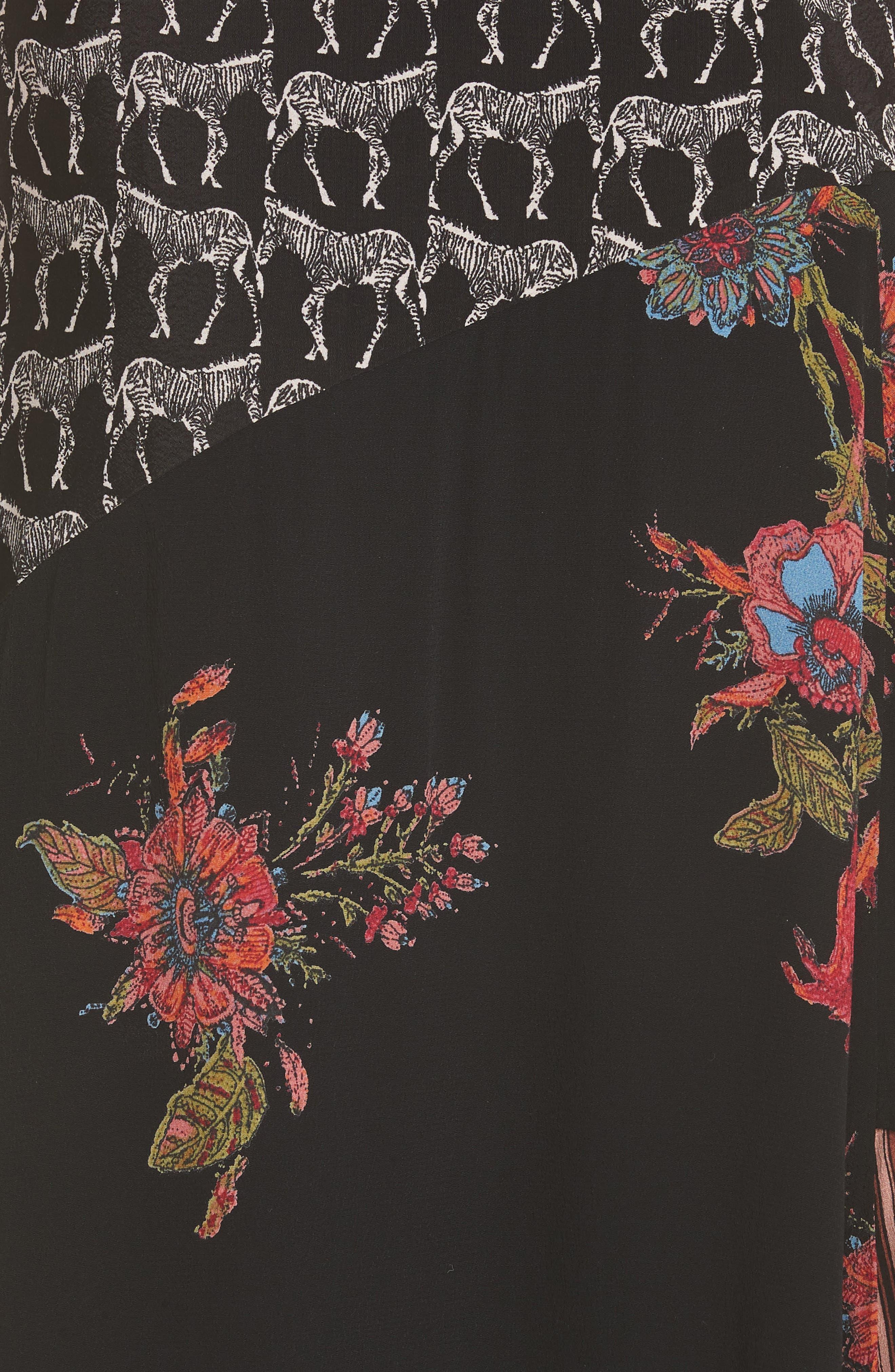 Sunshine Safari Top & Skirt,                             Alternate thumbnail 6, color,                             Black