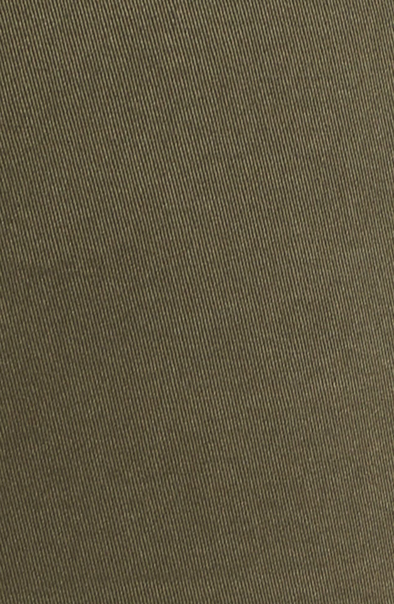 Twill Shorts,                             Alternate thumbnail 6, color,                             Olive Sarma