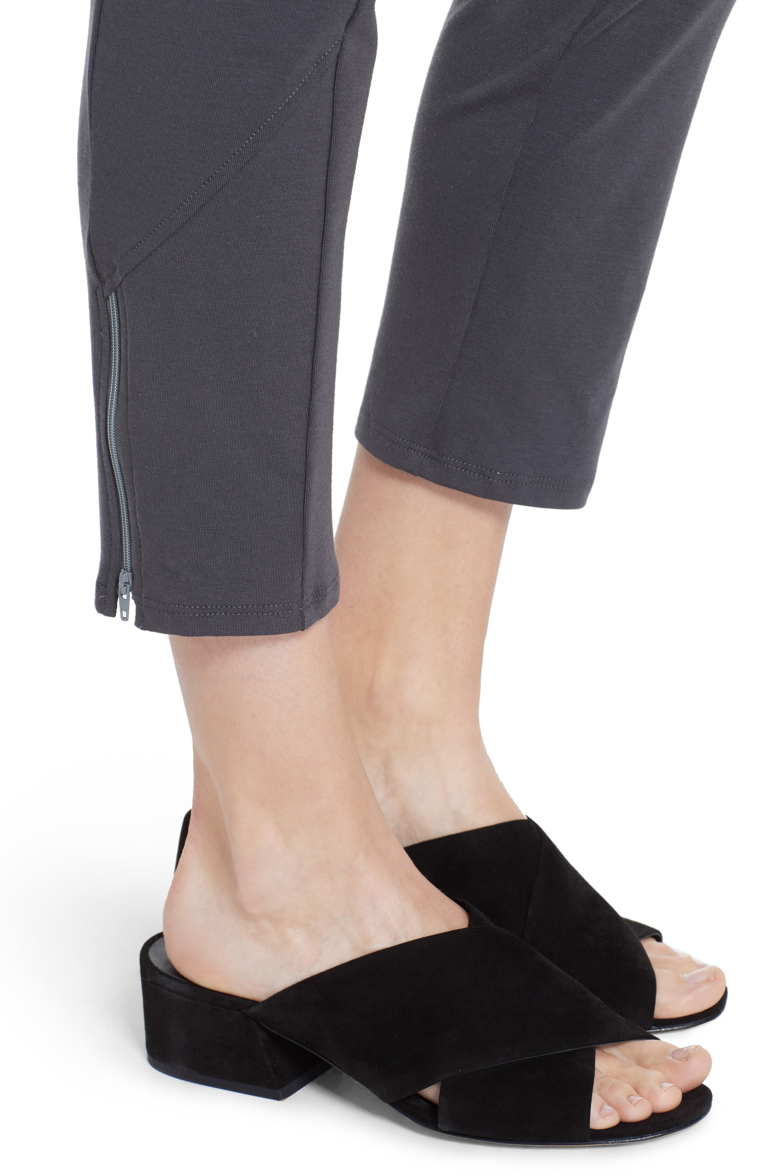 Slim Stretch Cotton Pants,                             Alternate thumbnail 4, color,                             Graphite
