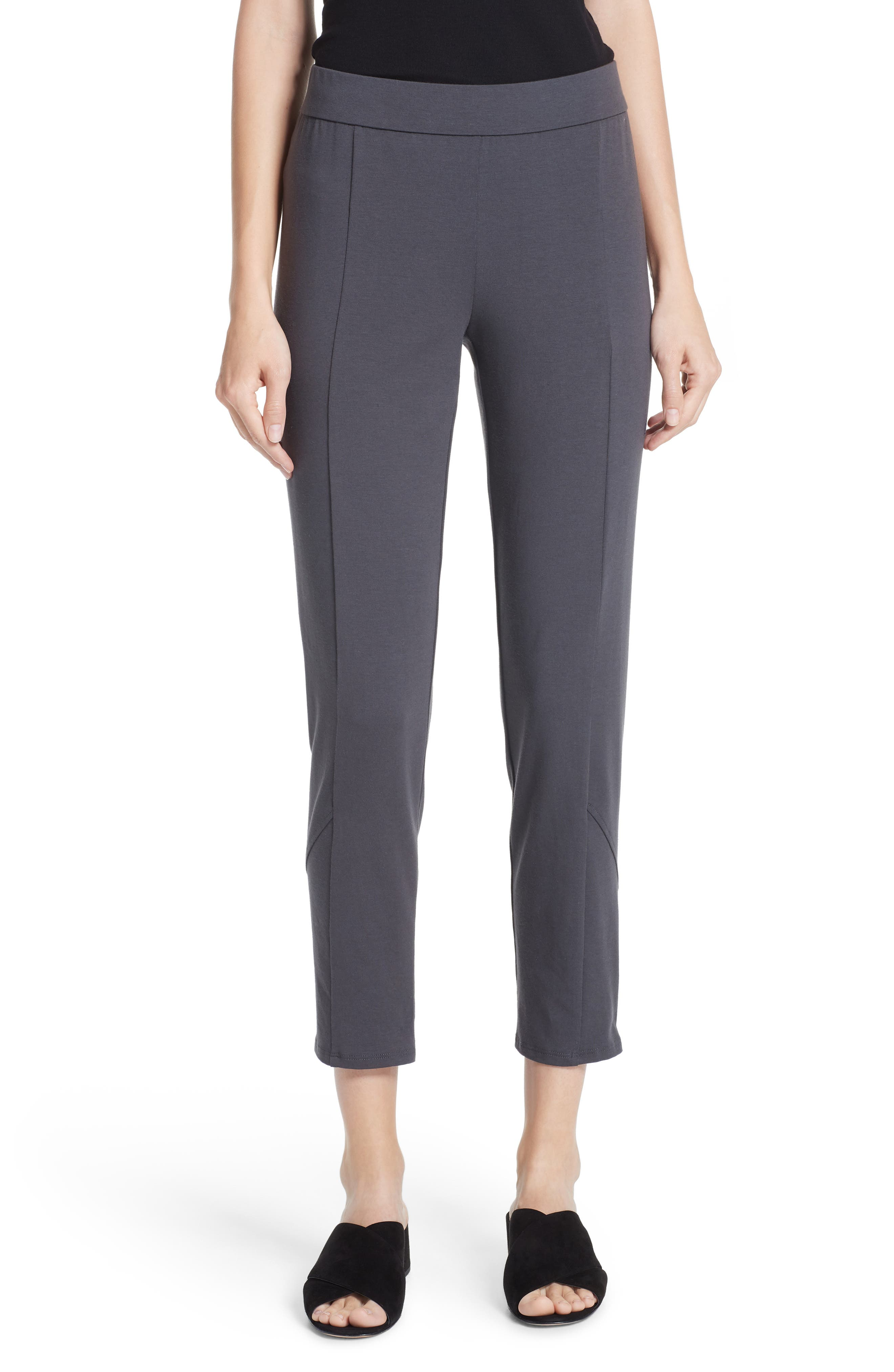 Eileen Fisher Slim Stretch Cotton Pants (Regular & Petite)