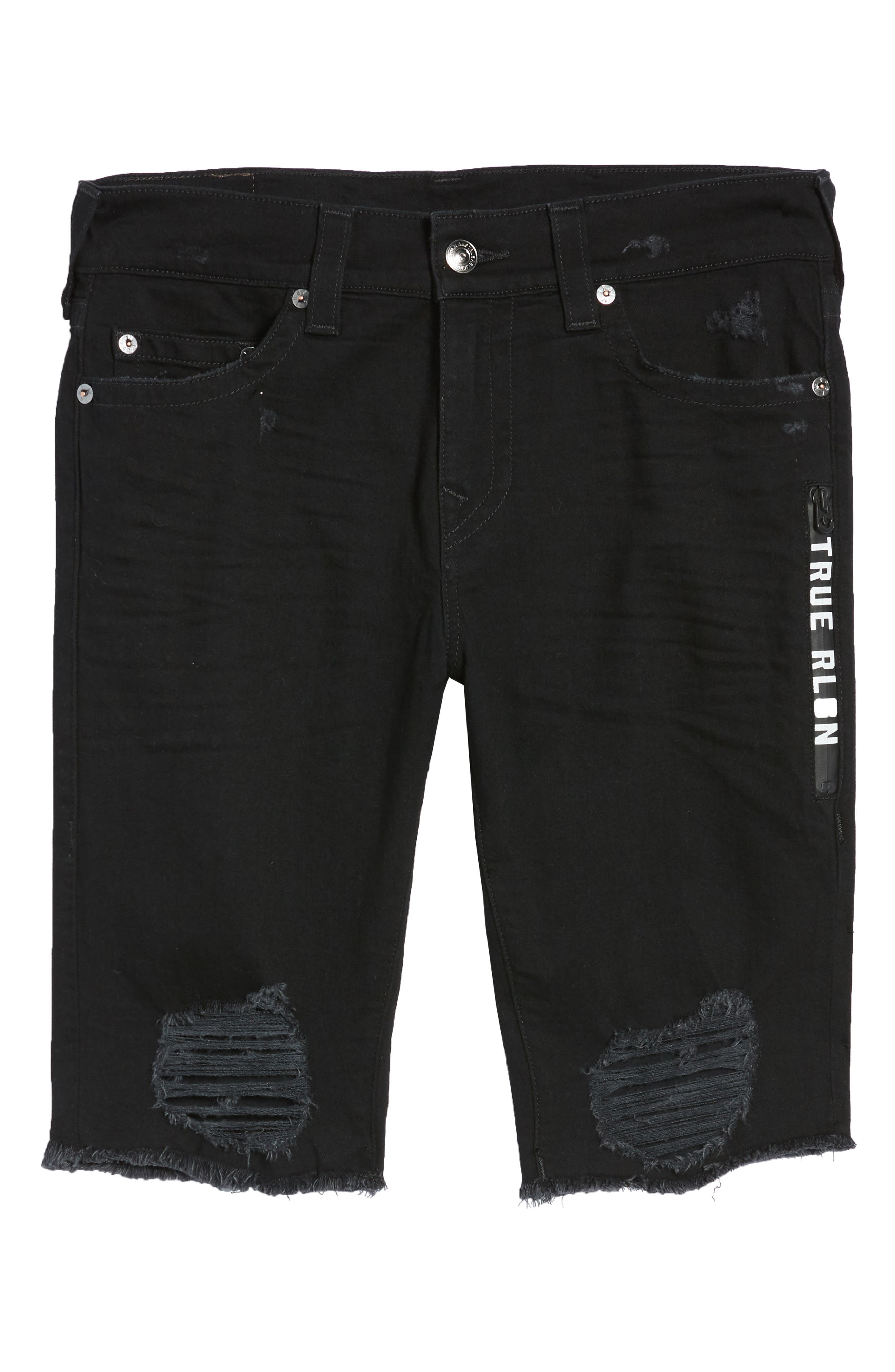 Ricky Relaxed Fit Shorts,                             Alternate thumbnail 6, color,                             Chalkboard