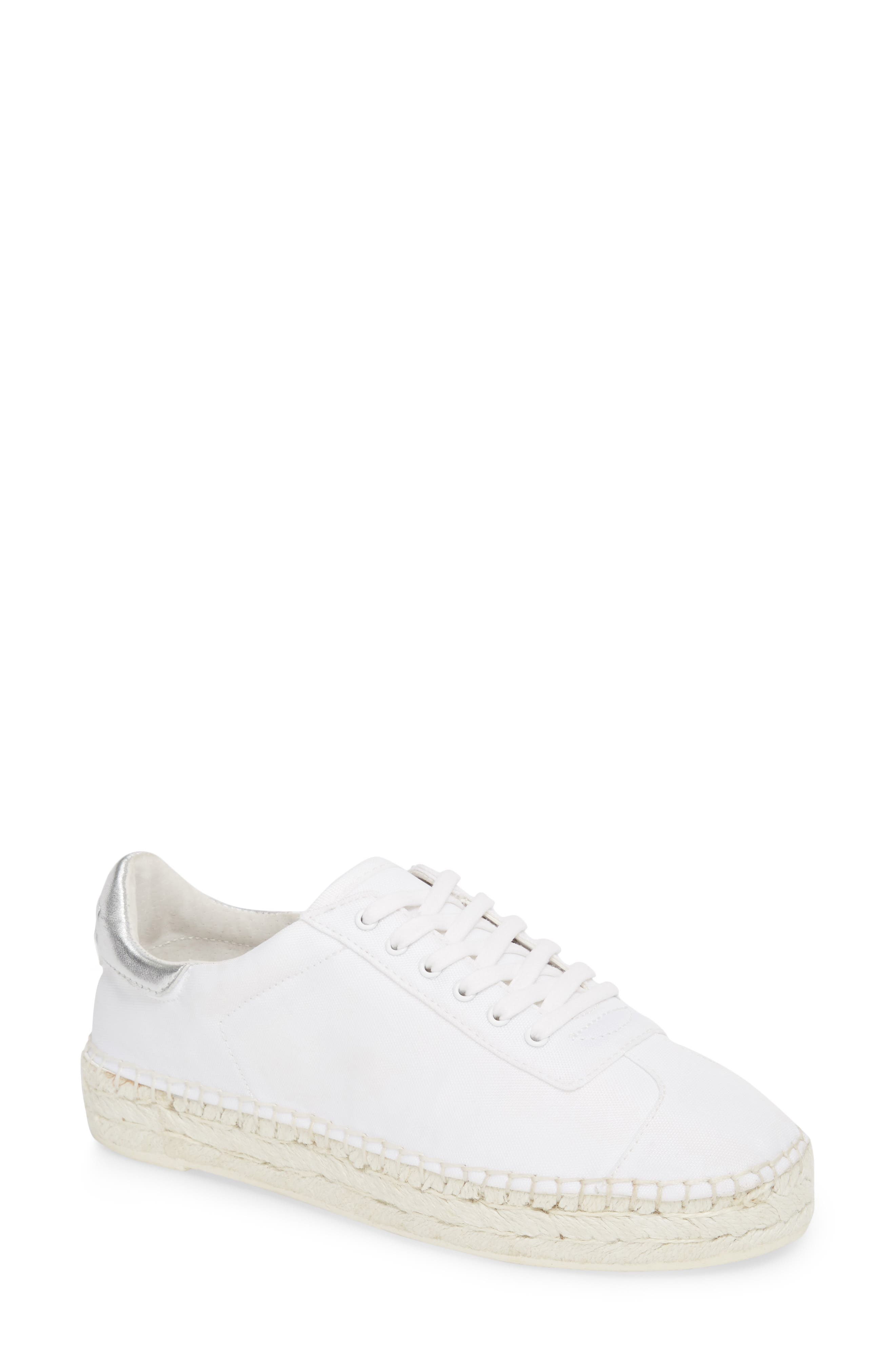 James Espadrille Sneaker,                             Main thumbnail 1, color,                             White/ Silver