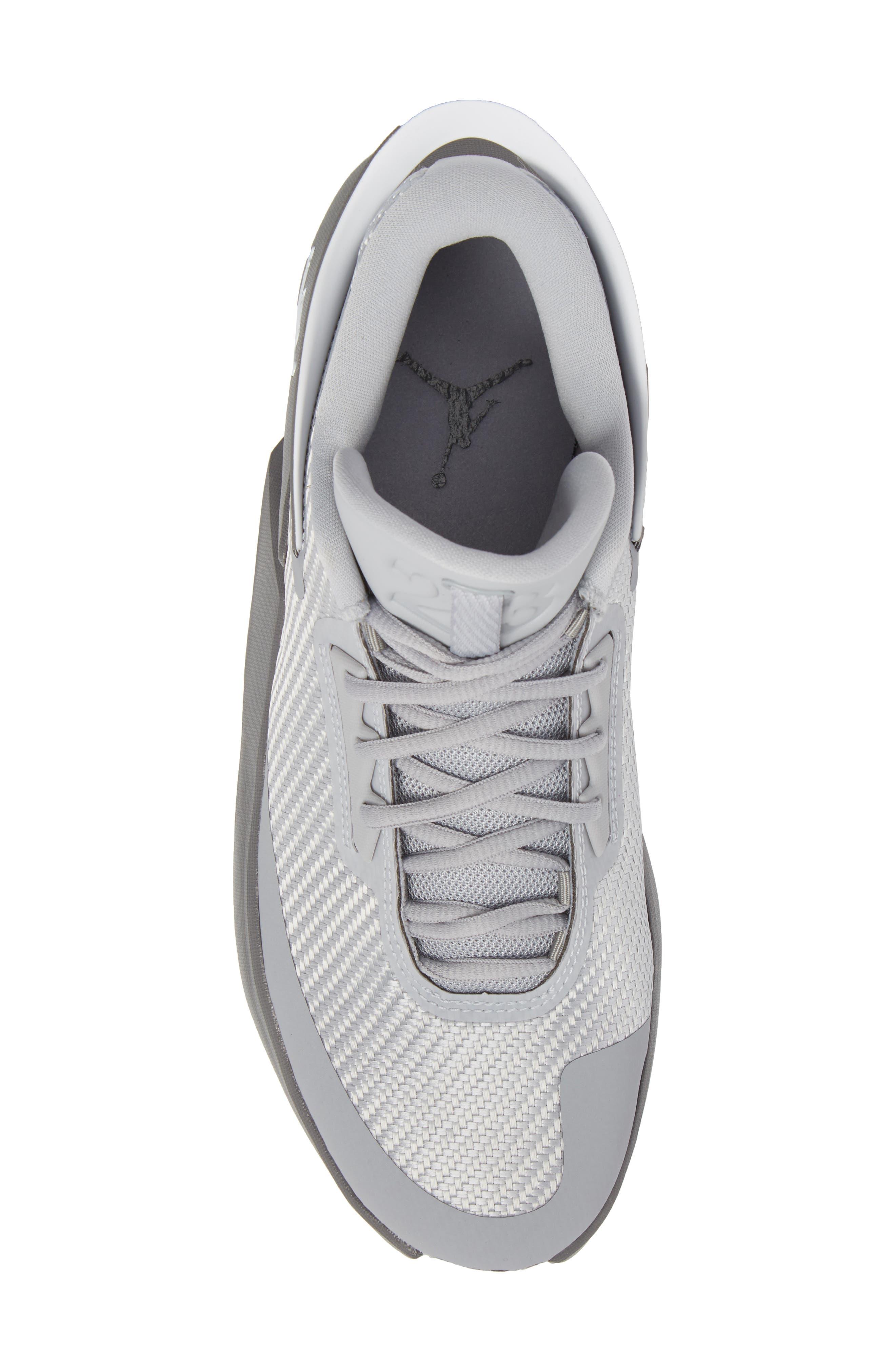 Jordan Fly Lockdown Sneaker,                             Alternate thumbnail 5, color,                             Wolf Grey/ White/ Dark Grey