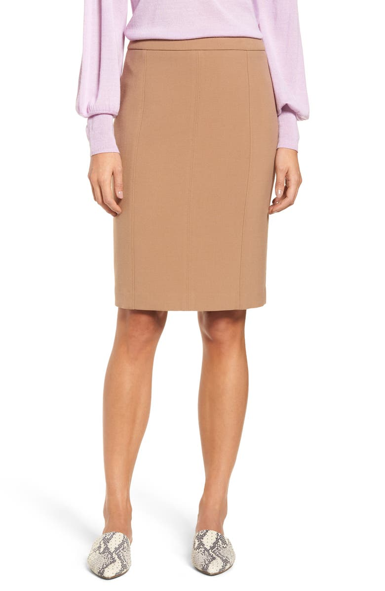 Seamed Pencil Skirt