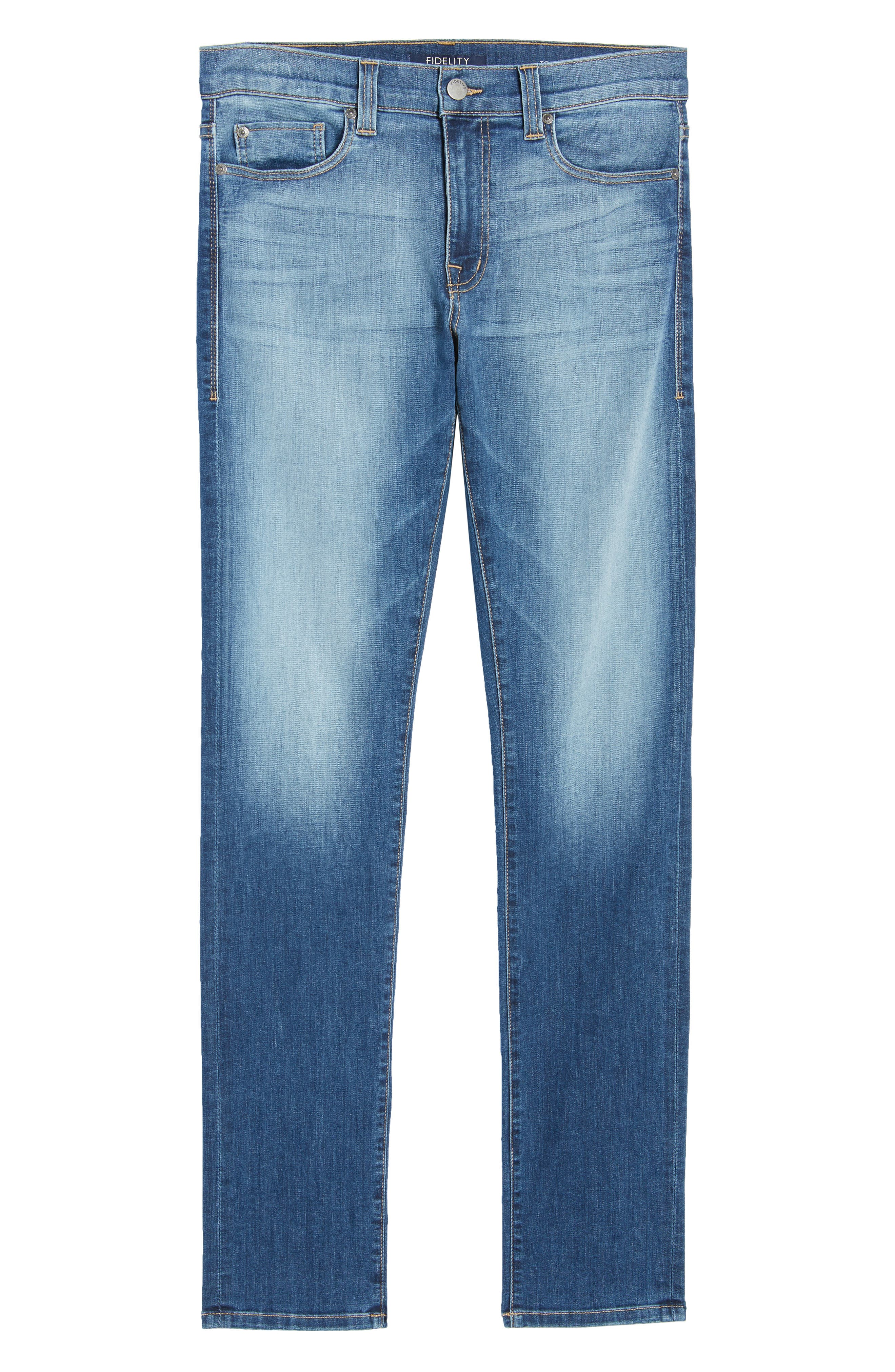 Torino Slim Fit Jeans,                             Alternate thumbnail 6, color,                             Elysium Blue