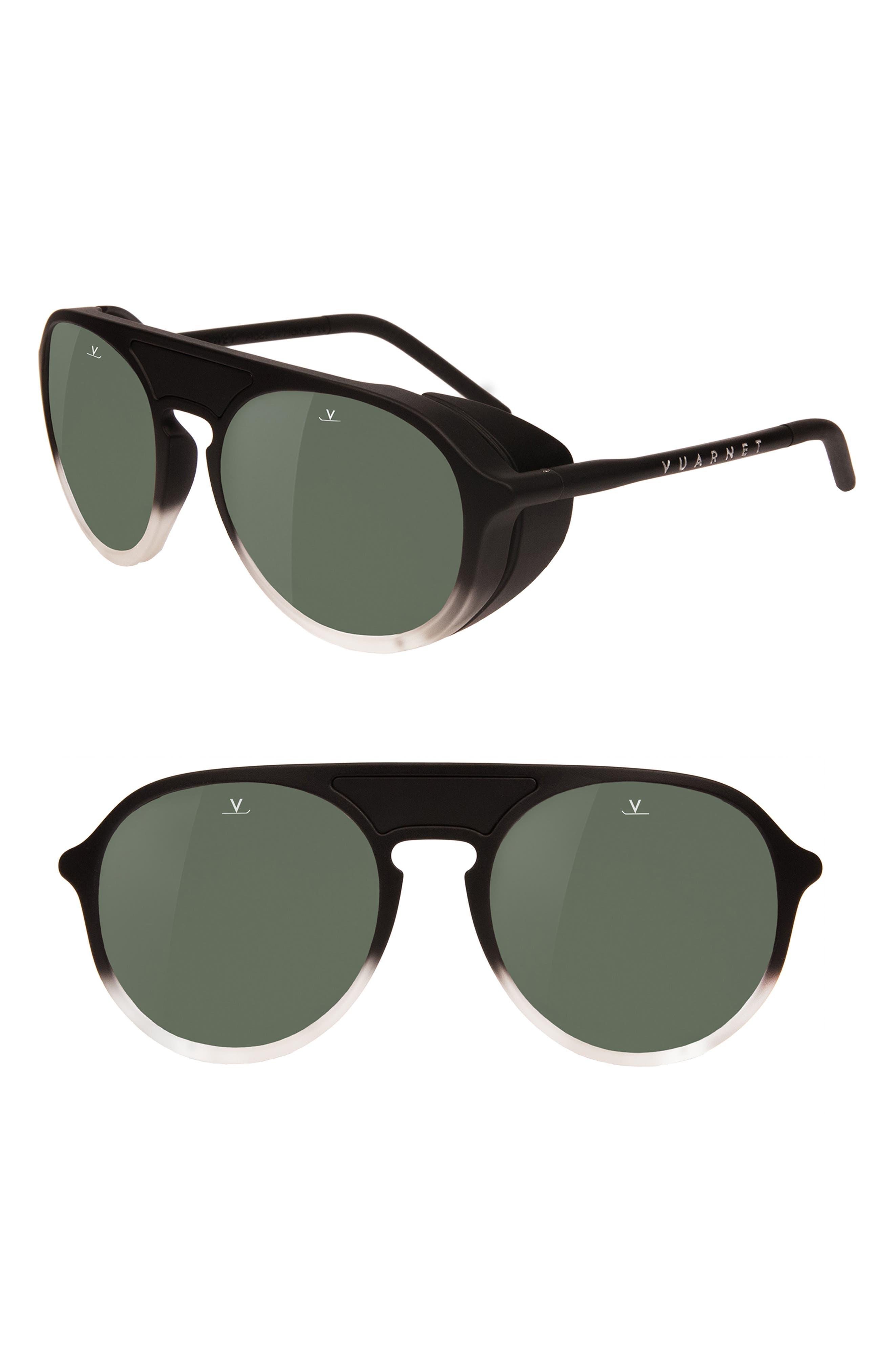 Ice 51mm Polarized Sunglasses,                             Main thumbnail 1, color,                             Gradient Black / Grey Polar