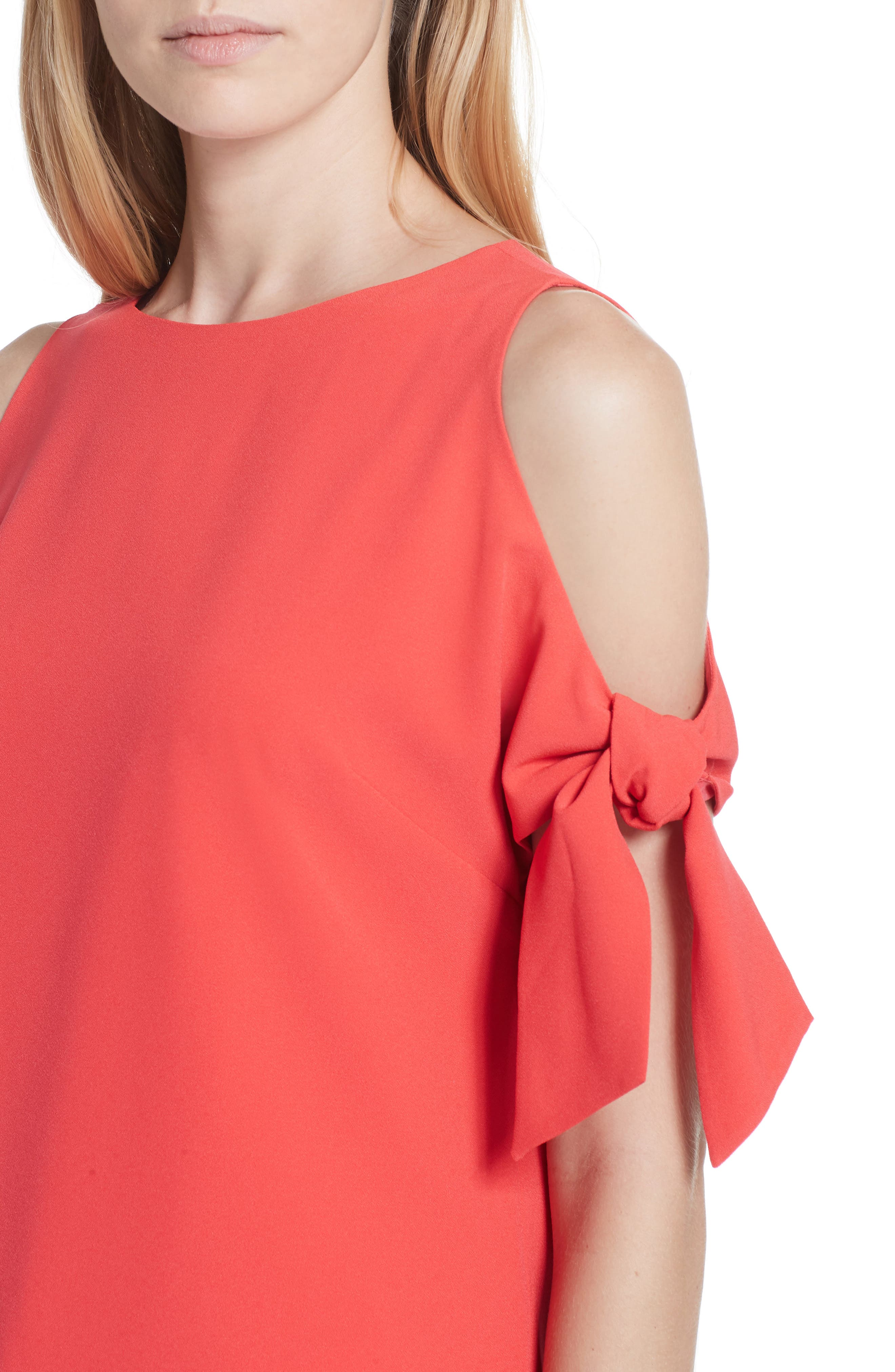 Yaele Cold Shoulder Top,                             Alternate thumbnail 4, color,                             Bright Red