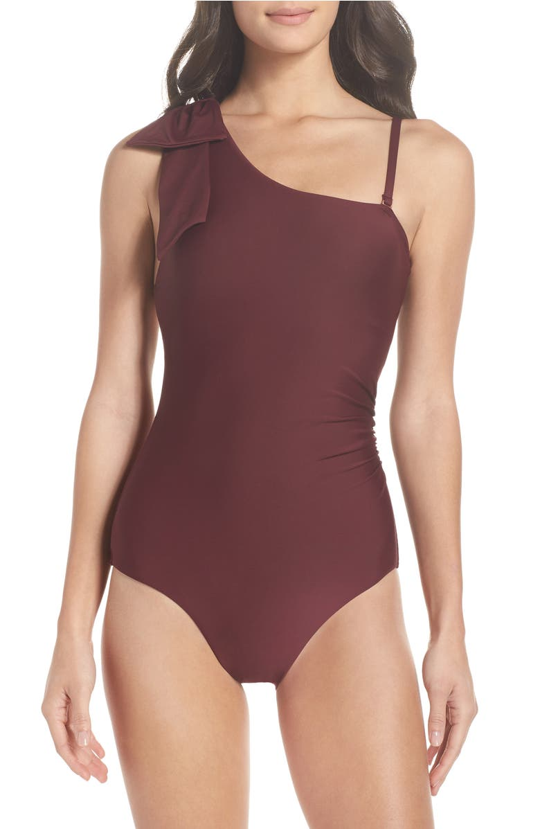 Showstopper One-Piece Swimsuit,                         Main,                         color, Burgundy Fig