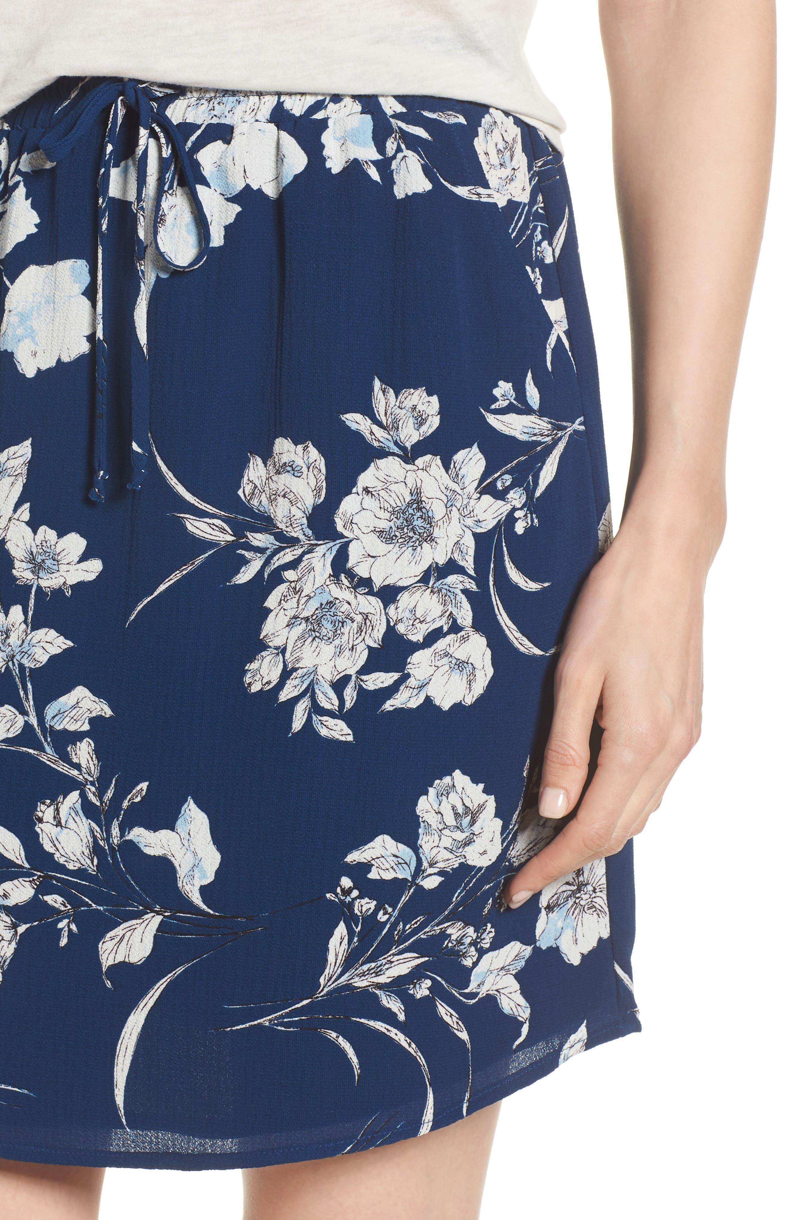 x Hi Sugarplum! Monterey Easy Skirt,                             Alternate thumbnail 5, color,                             Cool Breeze Floral
