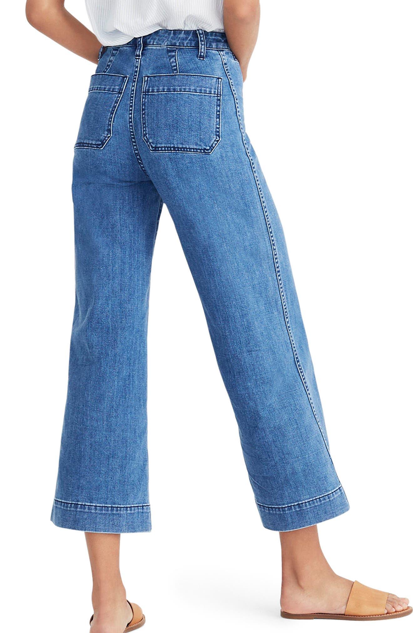 Emmett Crop Wide Leg Jeans,                             Alternate thumbnail 2, color,                             Rosalie