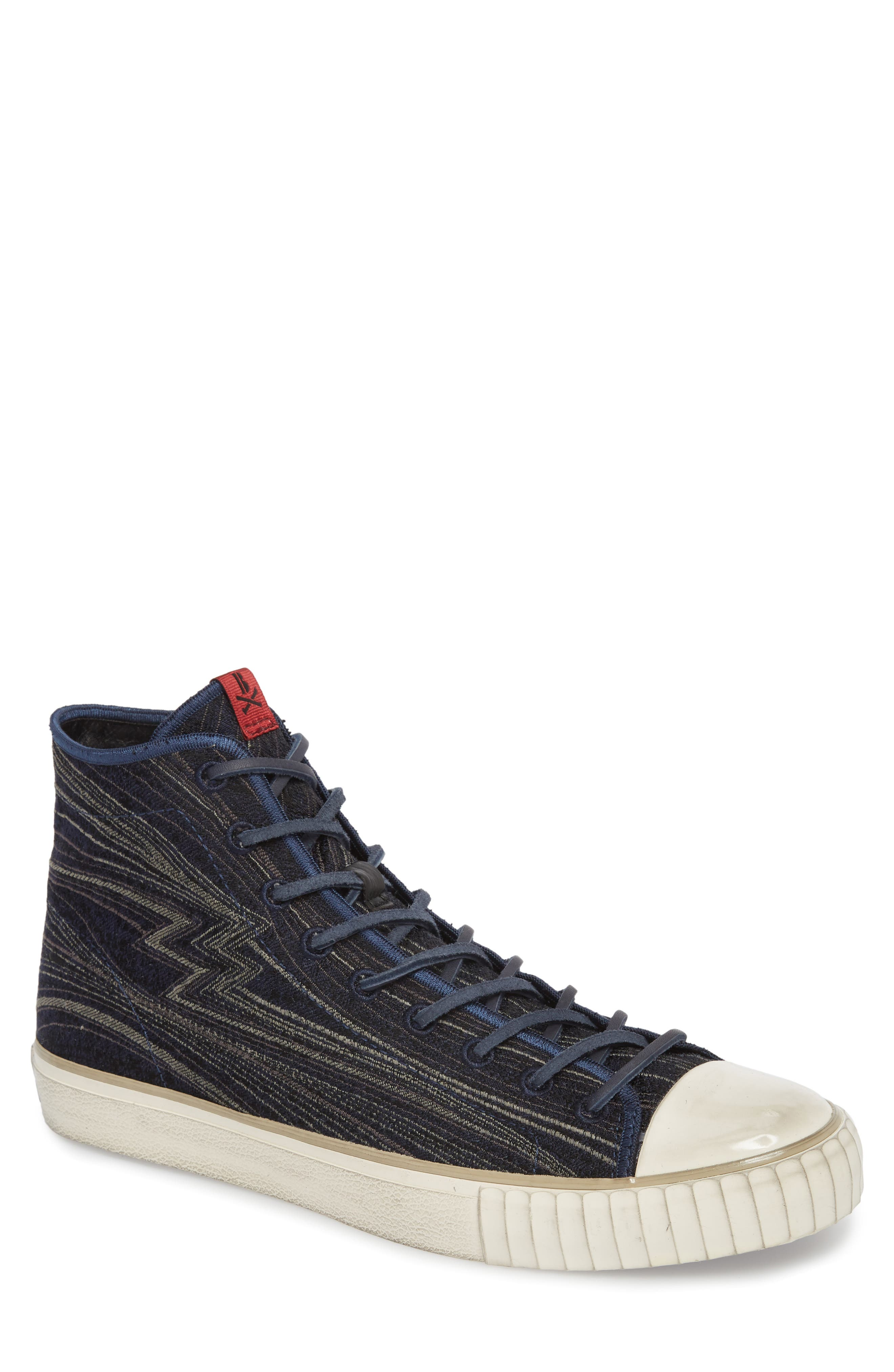 Mid Top Engineered Sneaker,                         Main,                         color, Midnight Fabric