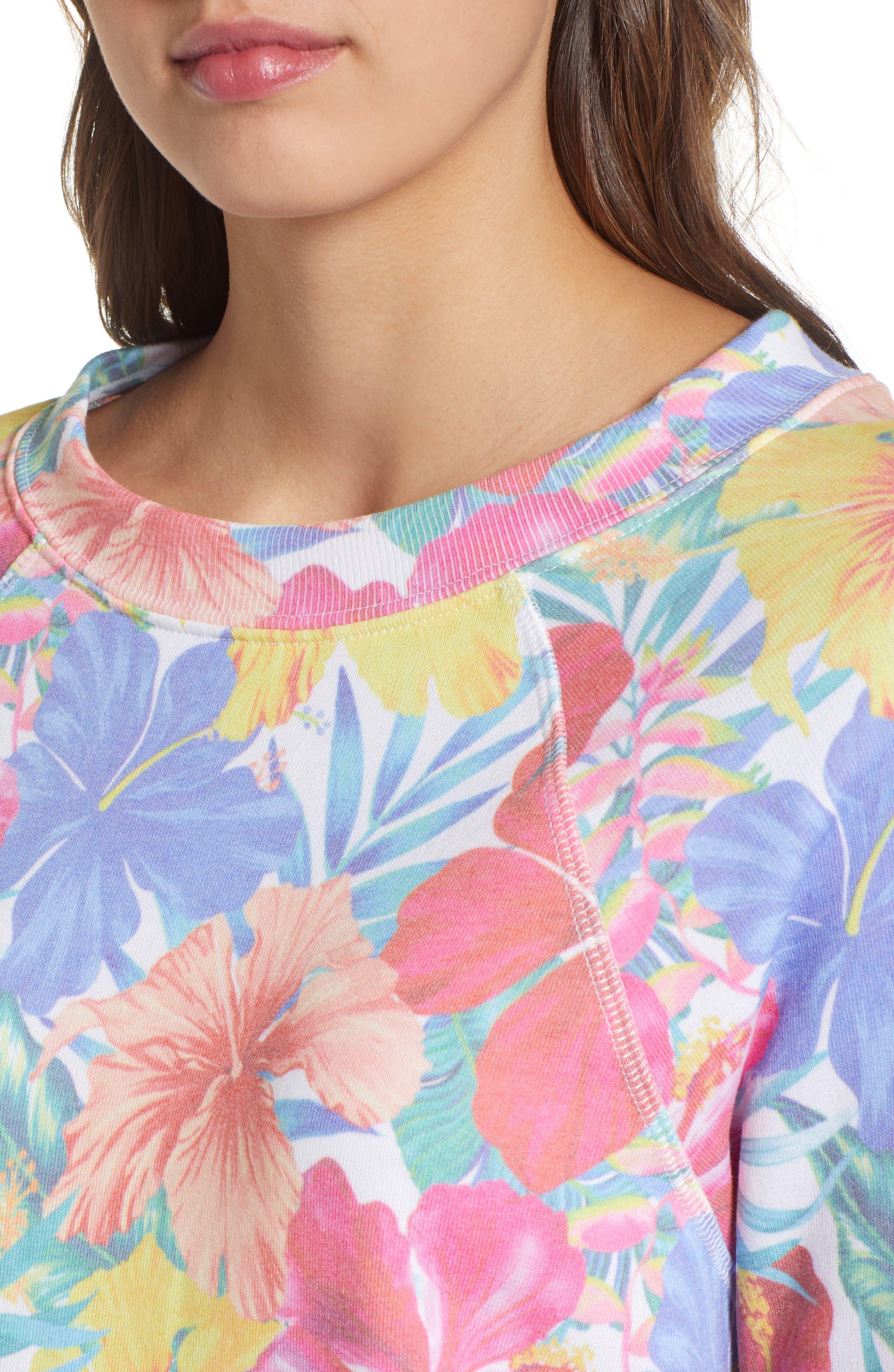 Tropicalia Sommers Sweatshirt,                             Alternate thumbnail 4, color,                             Multi Colored