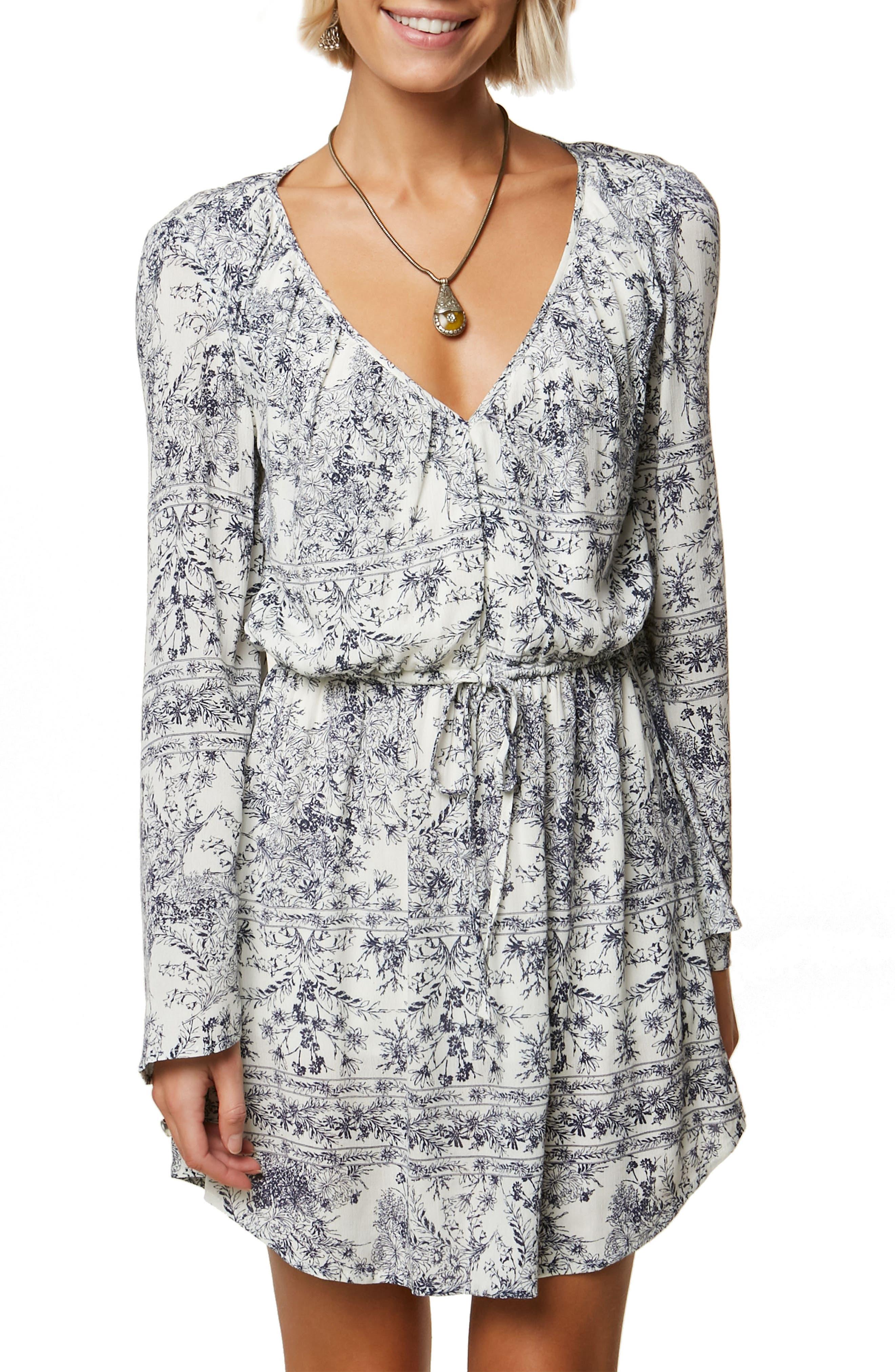 Gretchen Bell Sleeve Blouson Dress,                             Main thumbnail 1, color,                             Naked