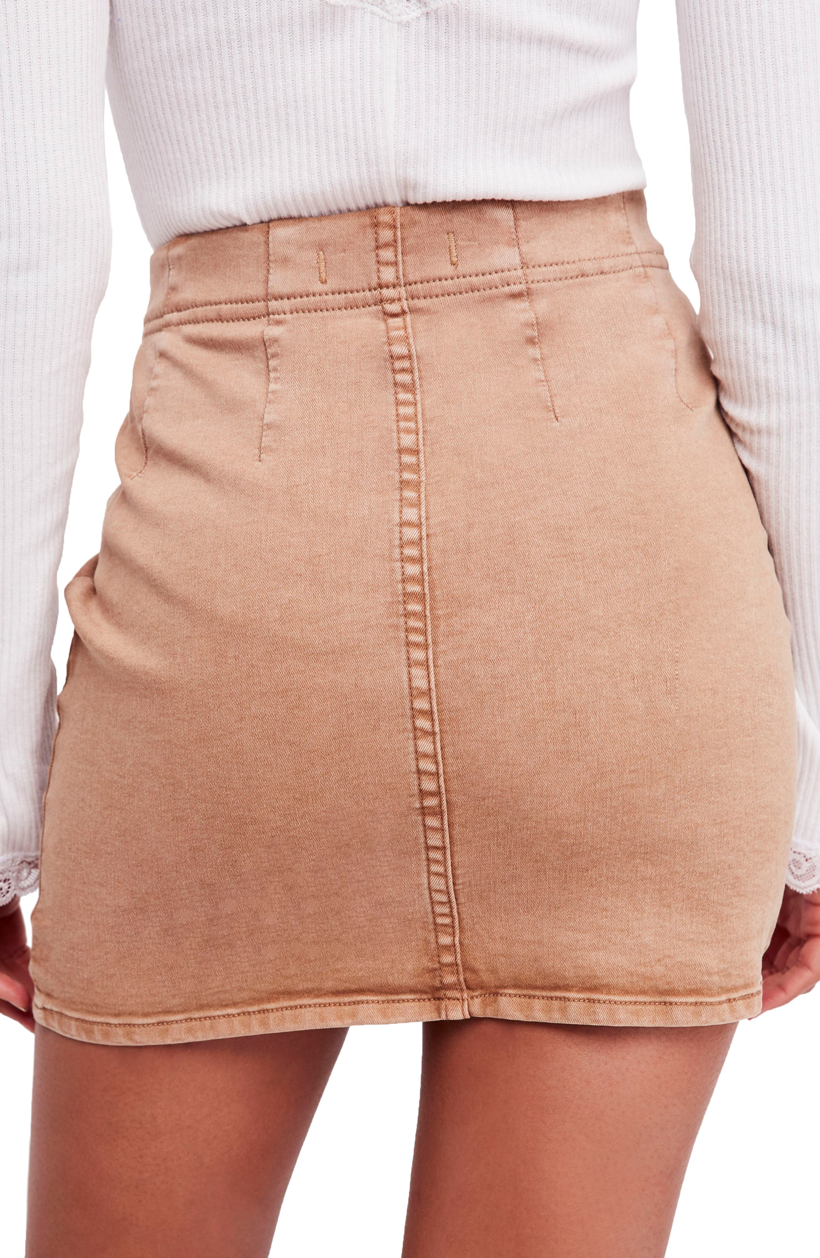 Femme Fatale Pull On Skirt,                             Alternate thumbnail 2, color,                             Khaki