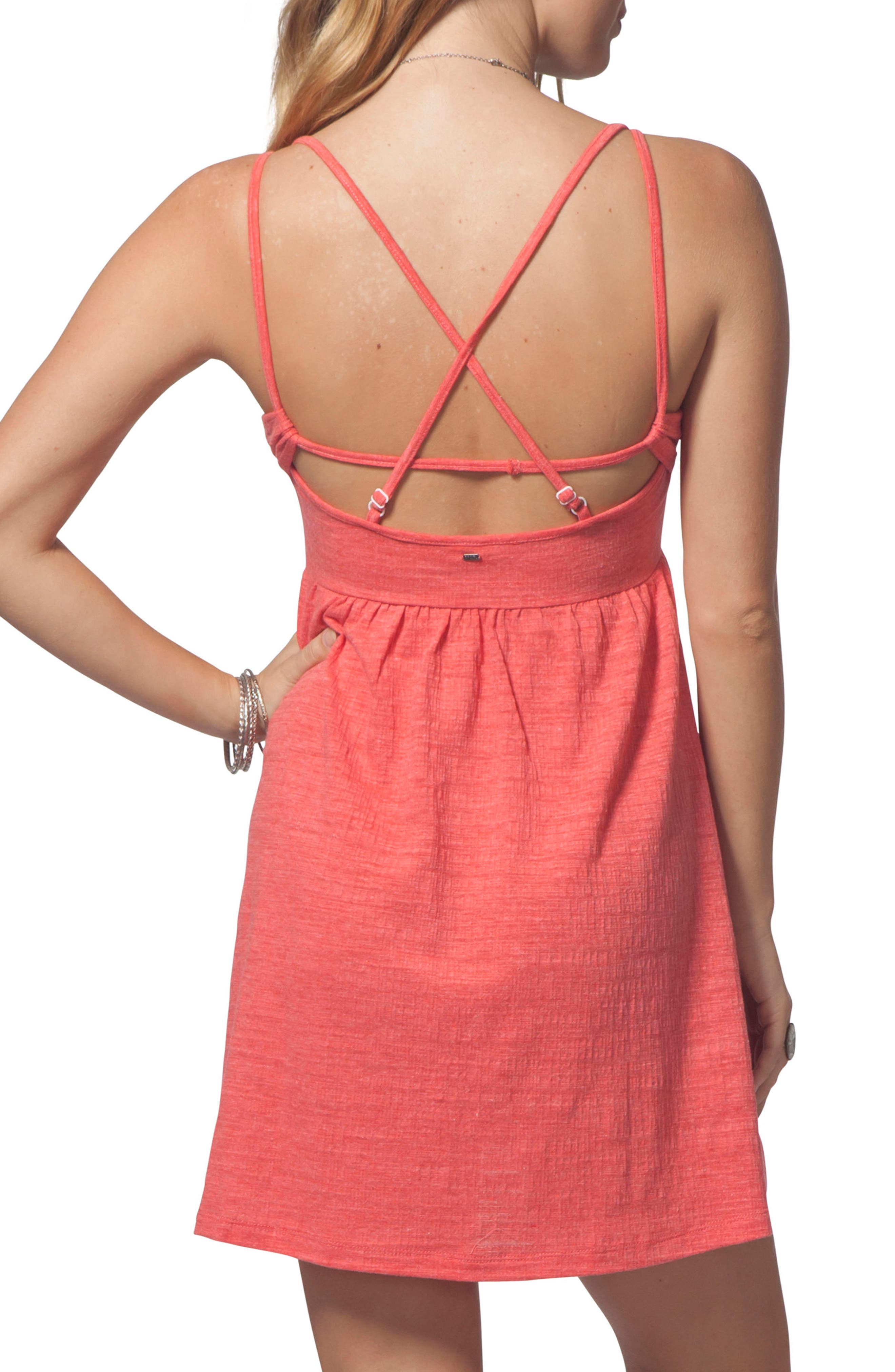 Classic Surf Dress,                             Alternate thumbnail 2, color,                             Red