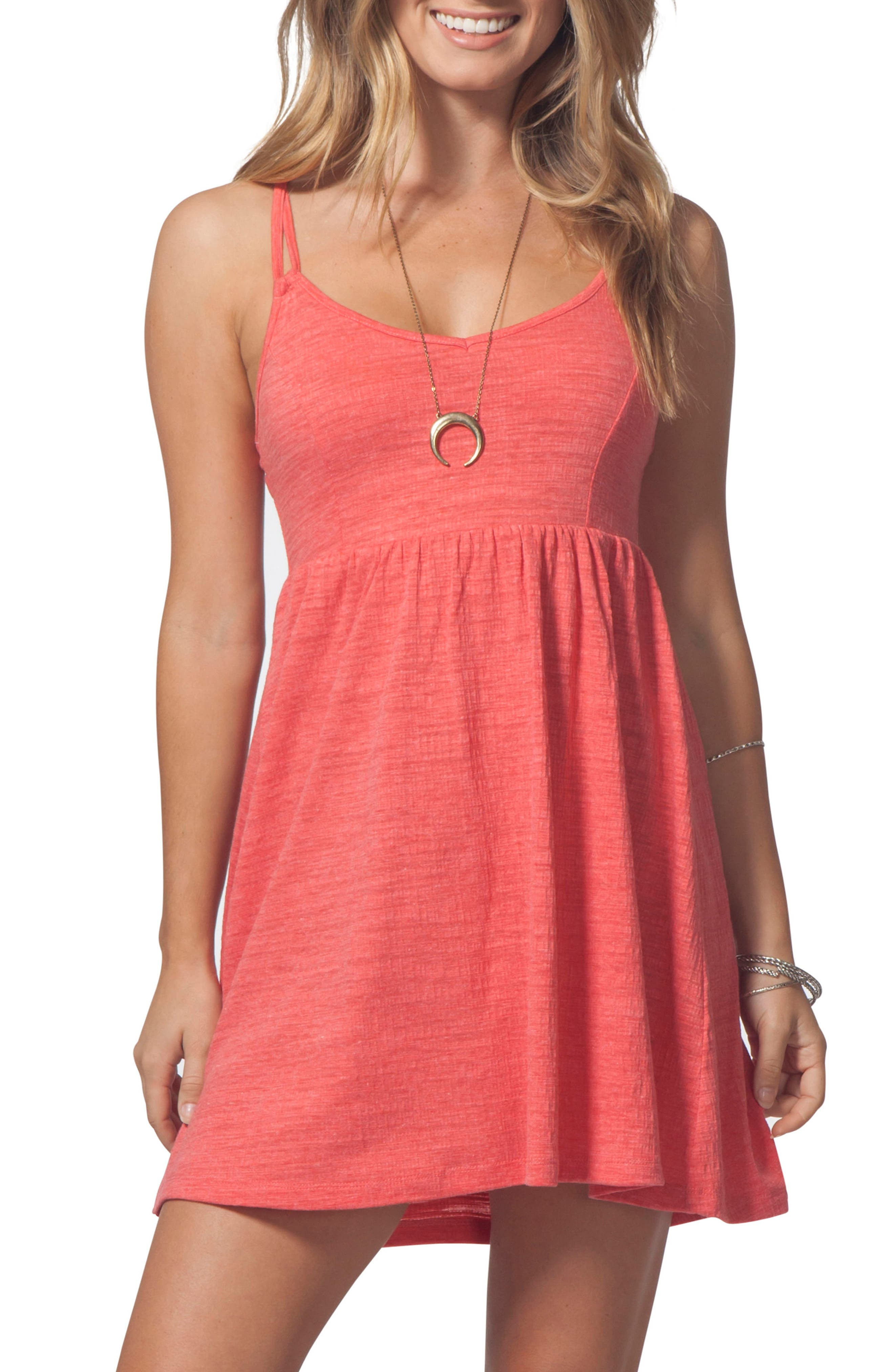 Classic Surf Dress,                         Main,                         color, Red