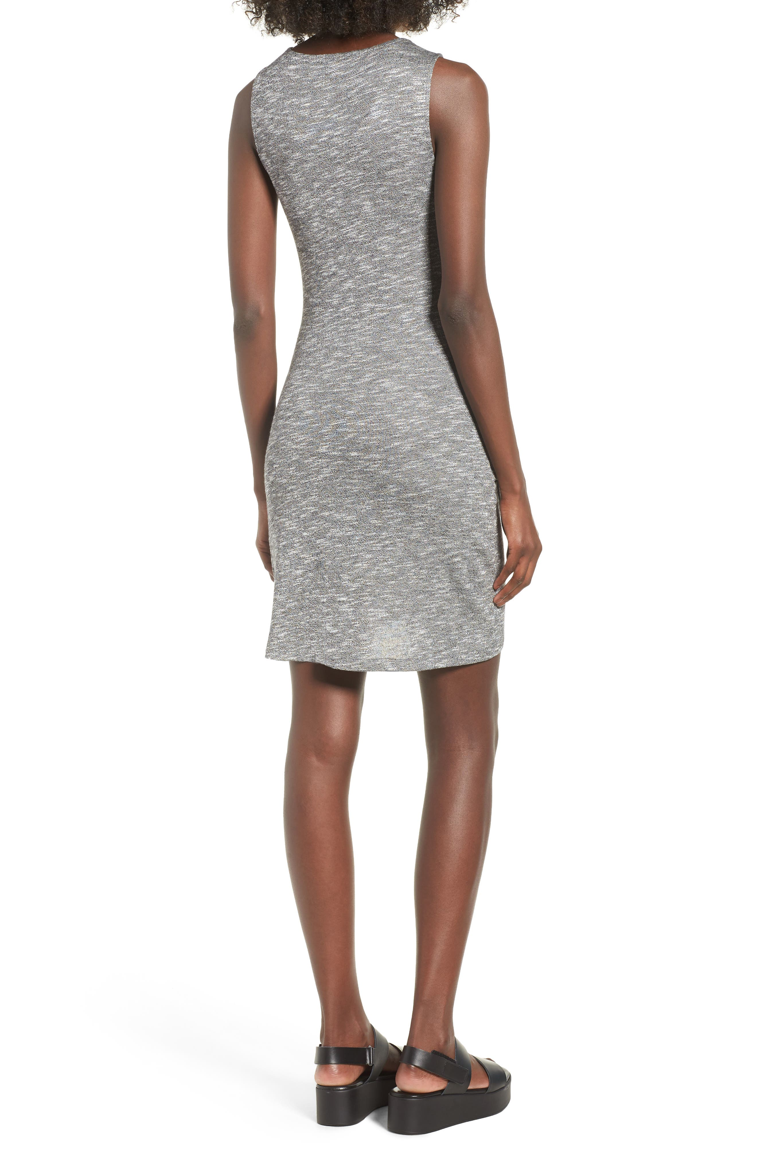 Ruched Tank Dress,                             Alternate thumbnail 2, color,                             Heather Grey