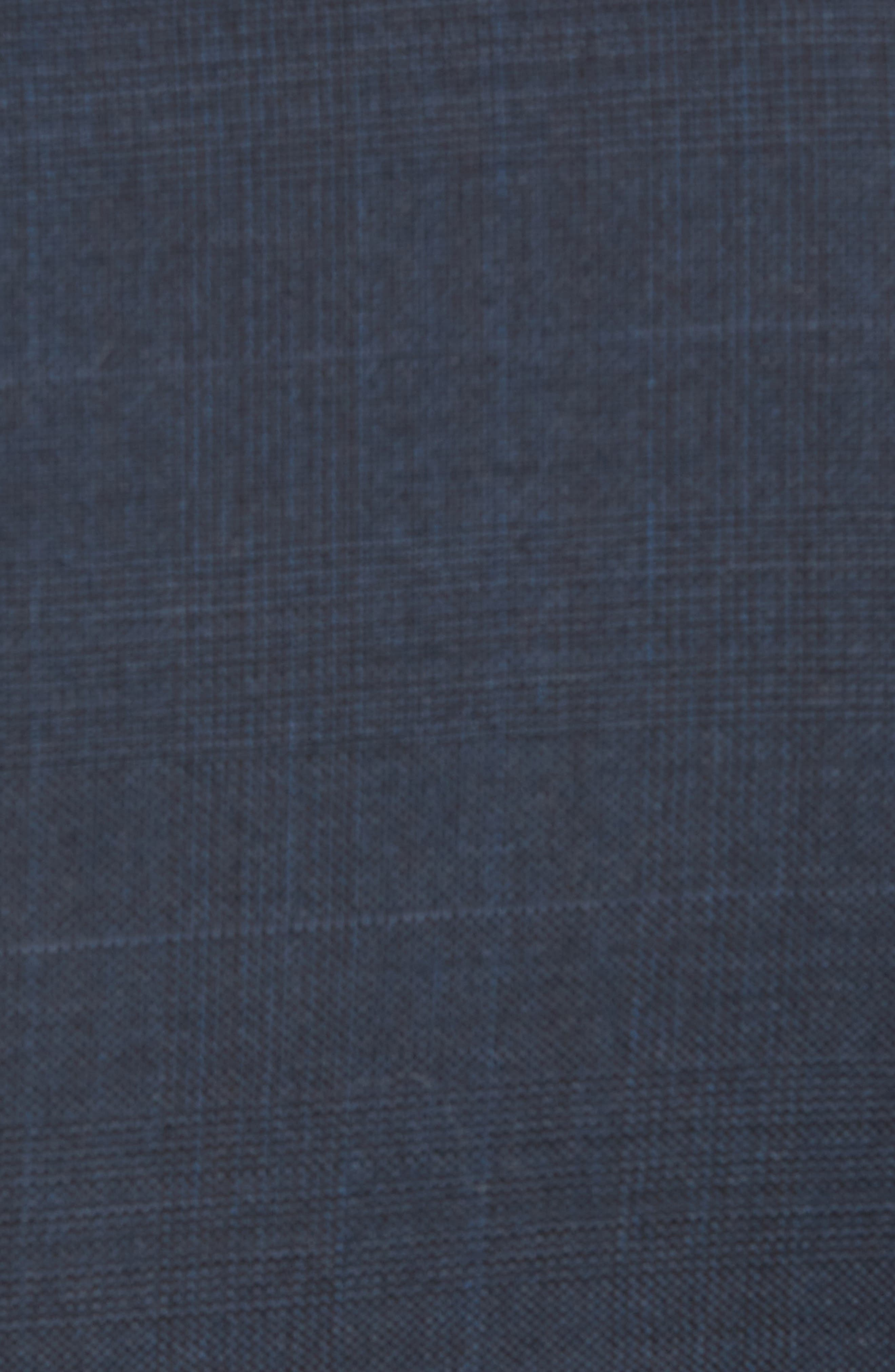 Trim Fit Plaid Wool Suit,                             Alternate thumbnail 7, color,                             Navy