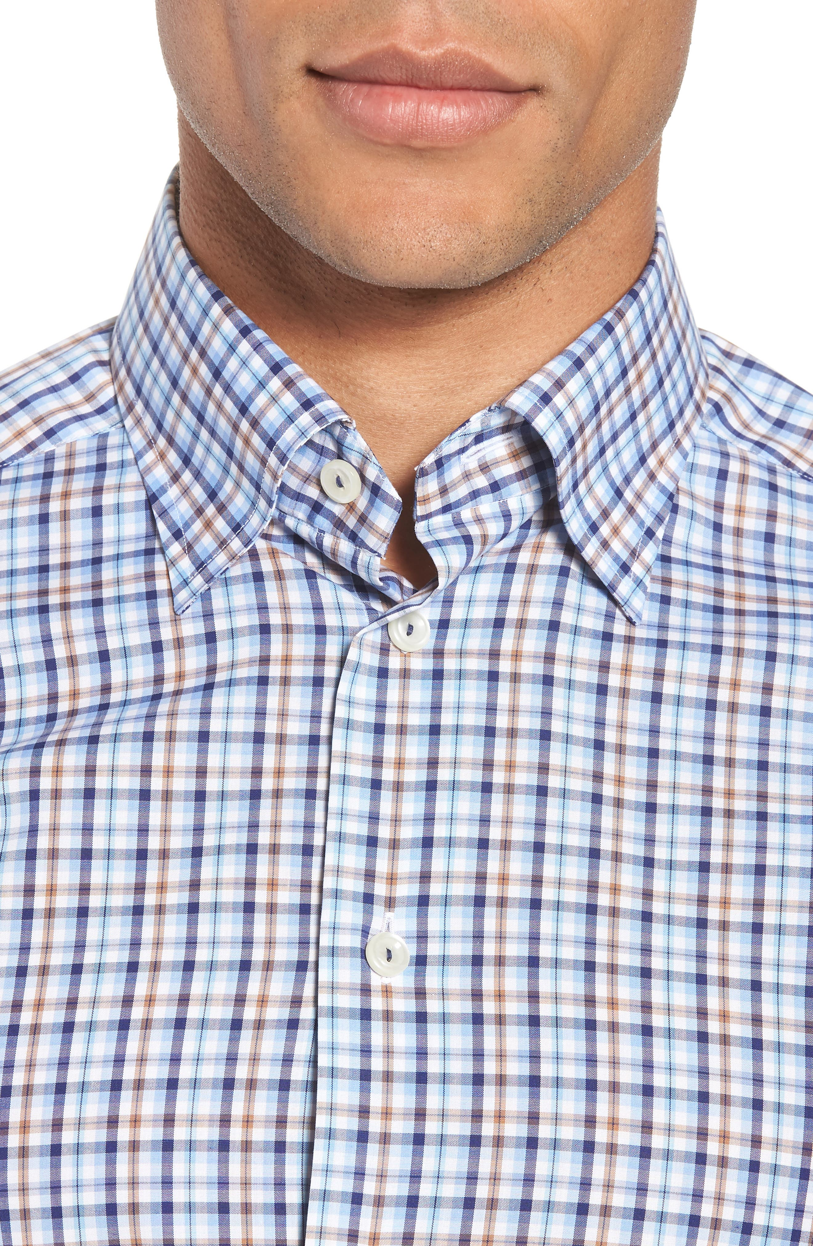 Contemporary Fit Plaid Dress Shirt,                             Alternate thumbnail 2, color,                             Blue