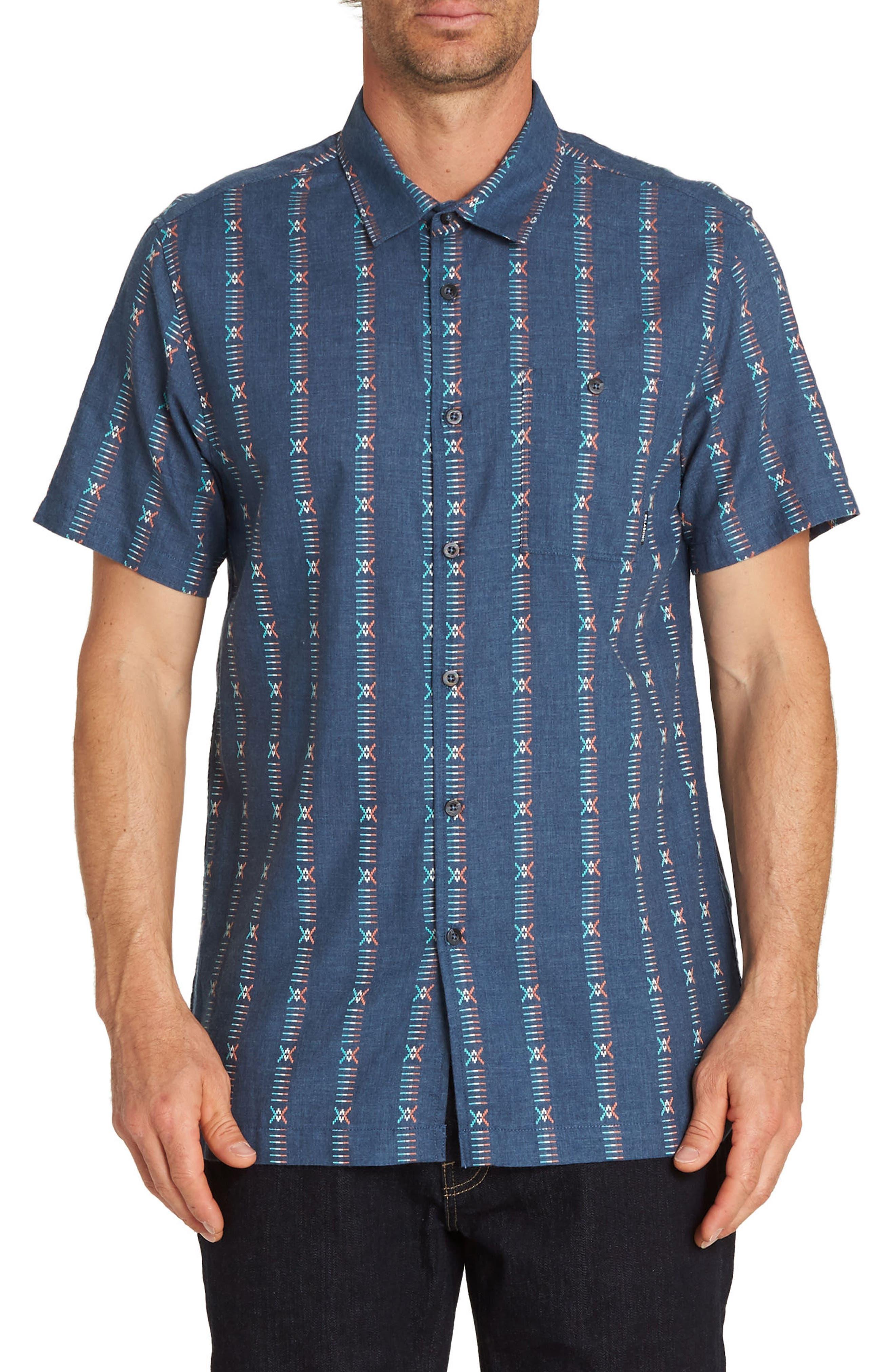 Sundays Jacquard Woven Shirt,                             Main thumbnail 1, color,                             Denim Blue