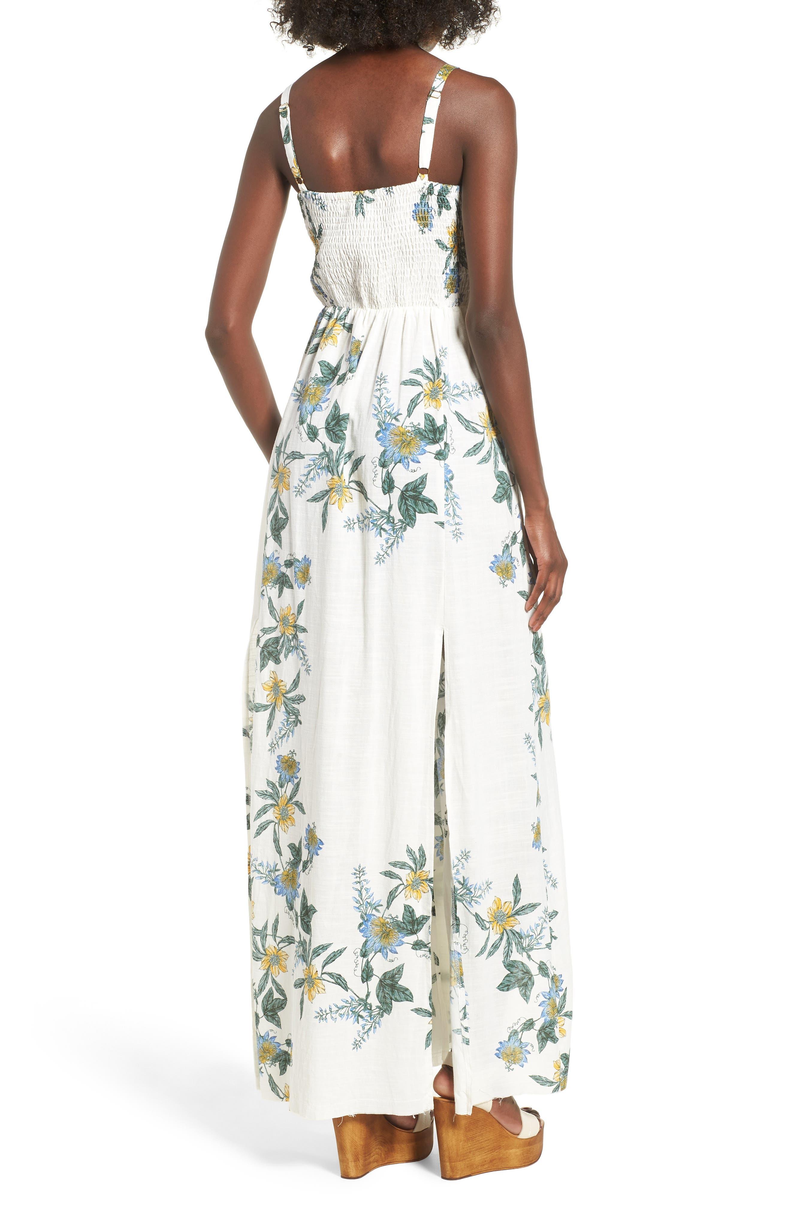 Luscious Lands Slit Hem Maxi Dress,                             Alternate thumbnail 2, color,                             Multi
