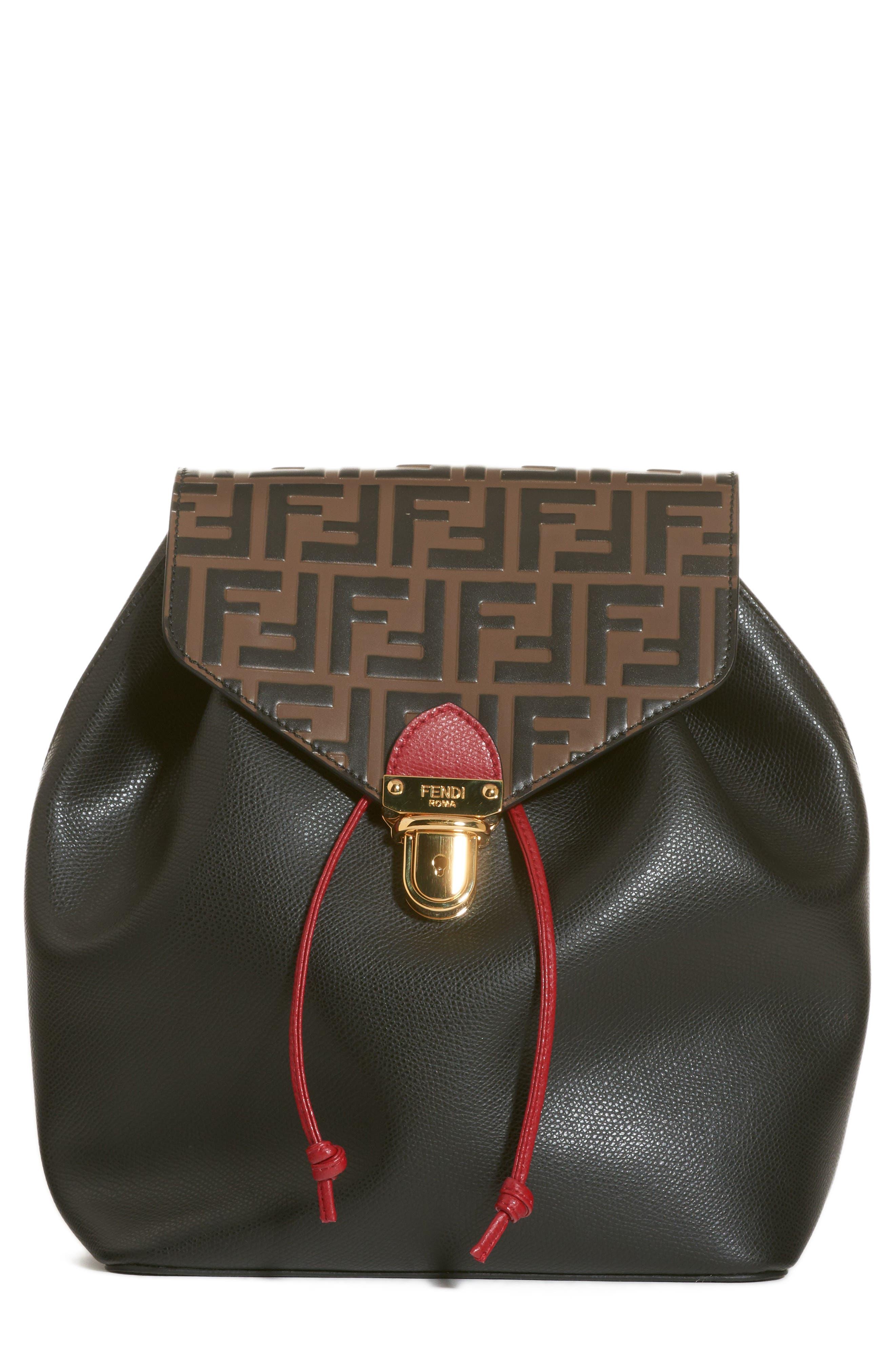 Fendi Cruise Bicolor Calfskin Leather Backpack