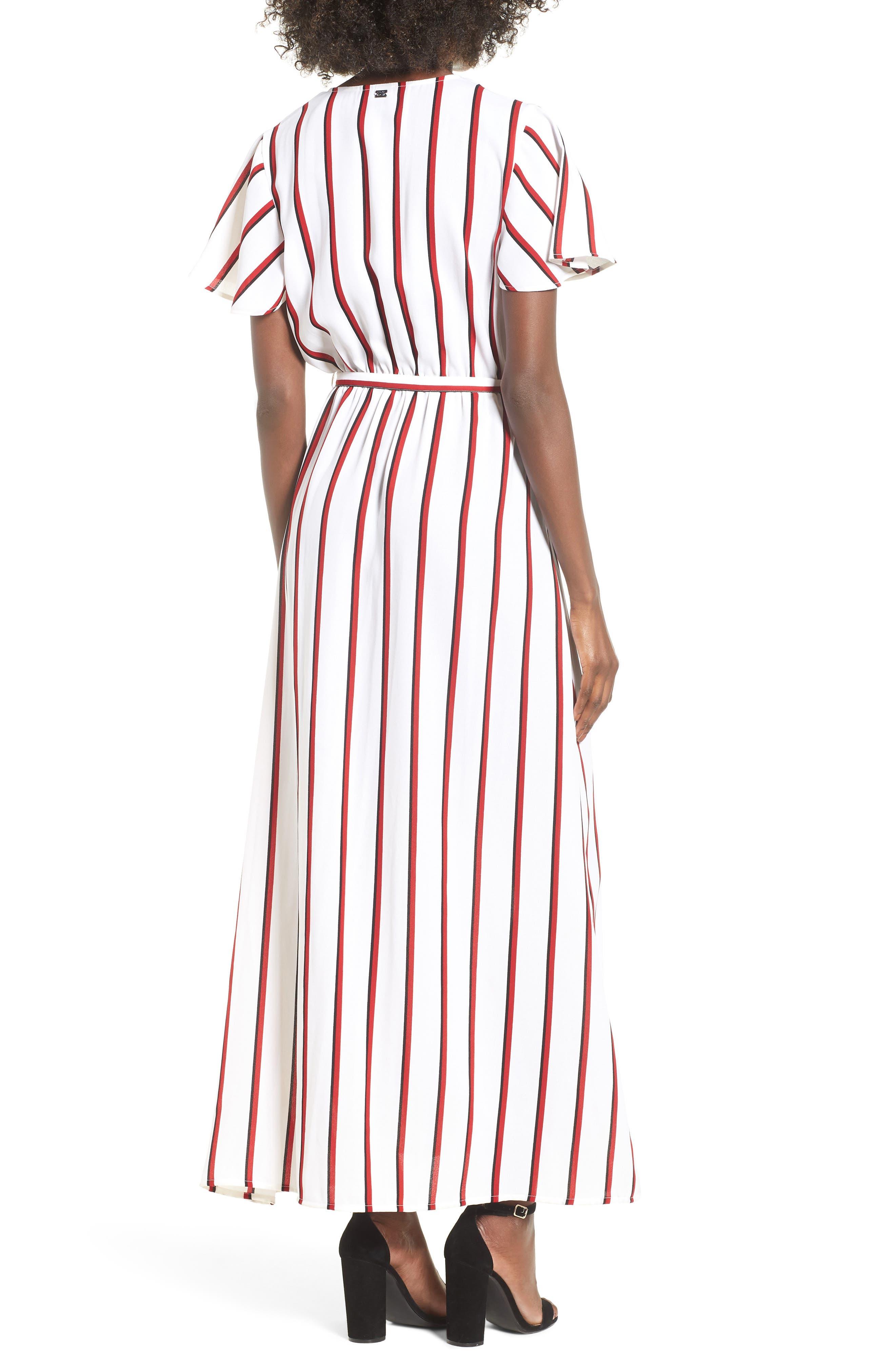 EZ Days Satin Wrap Maxi Dress,                             Alternate thumbnail 2, color,                             Chili Red