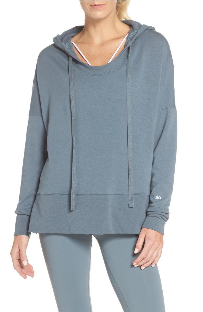 Alo Fluid Tunic Hoodie | Nordstrom