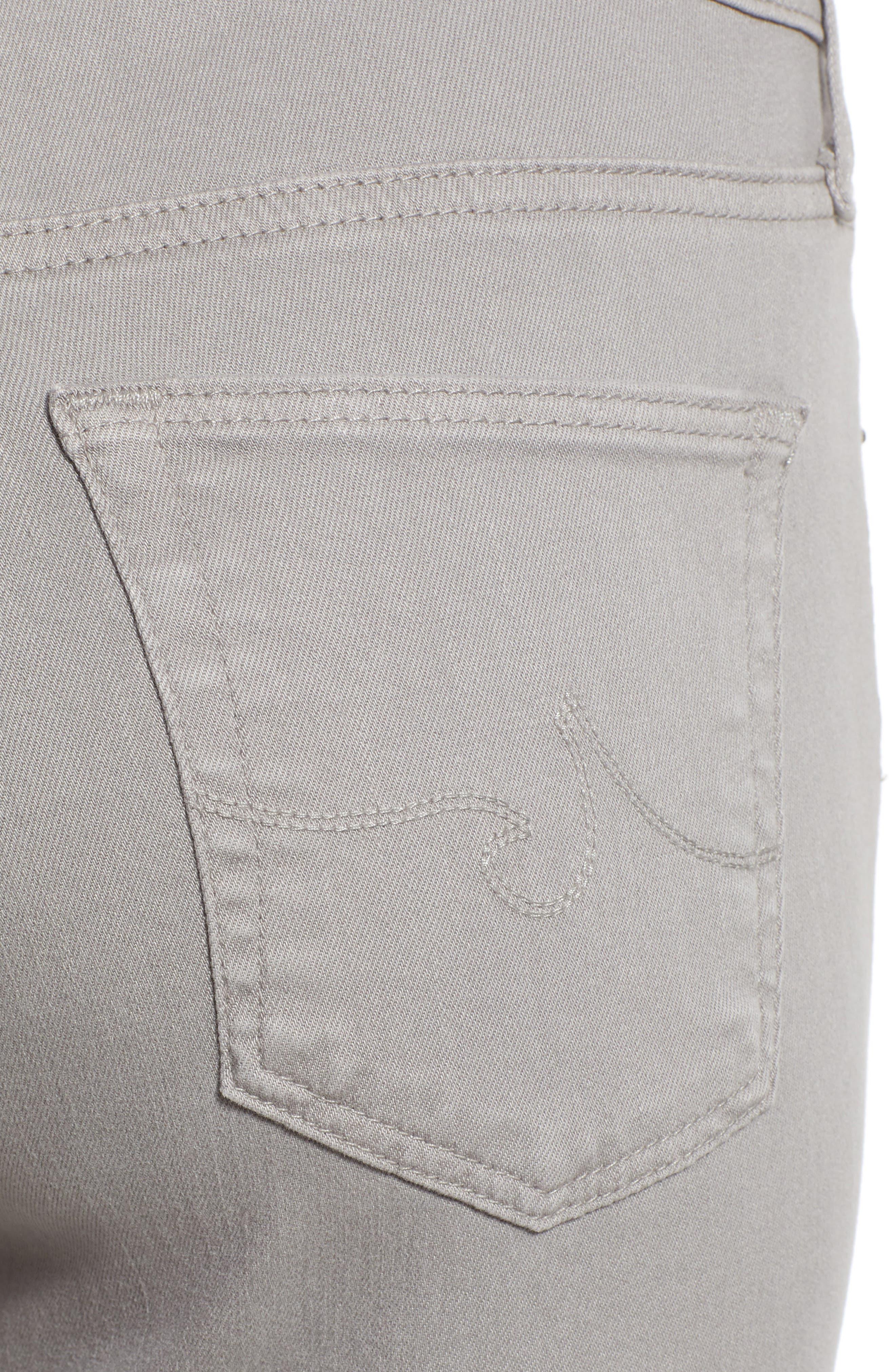 'The Legging' Ankle Jeans,                             Alternate thumbnail 4, color,                             Sulfur Pebble Beach