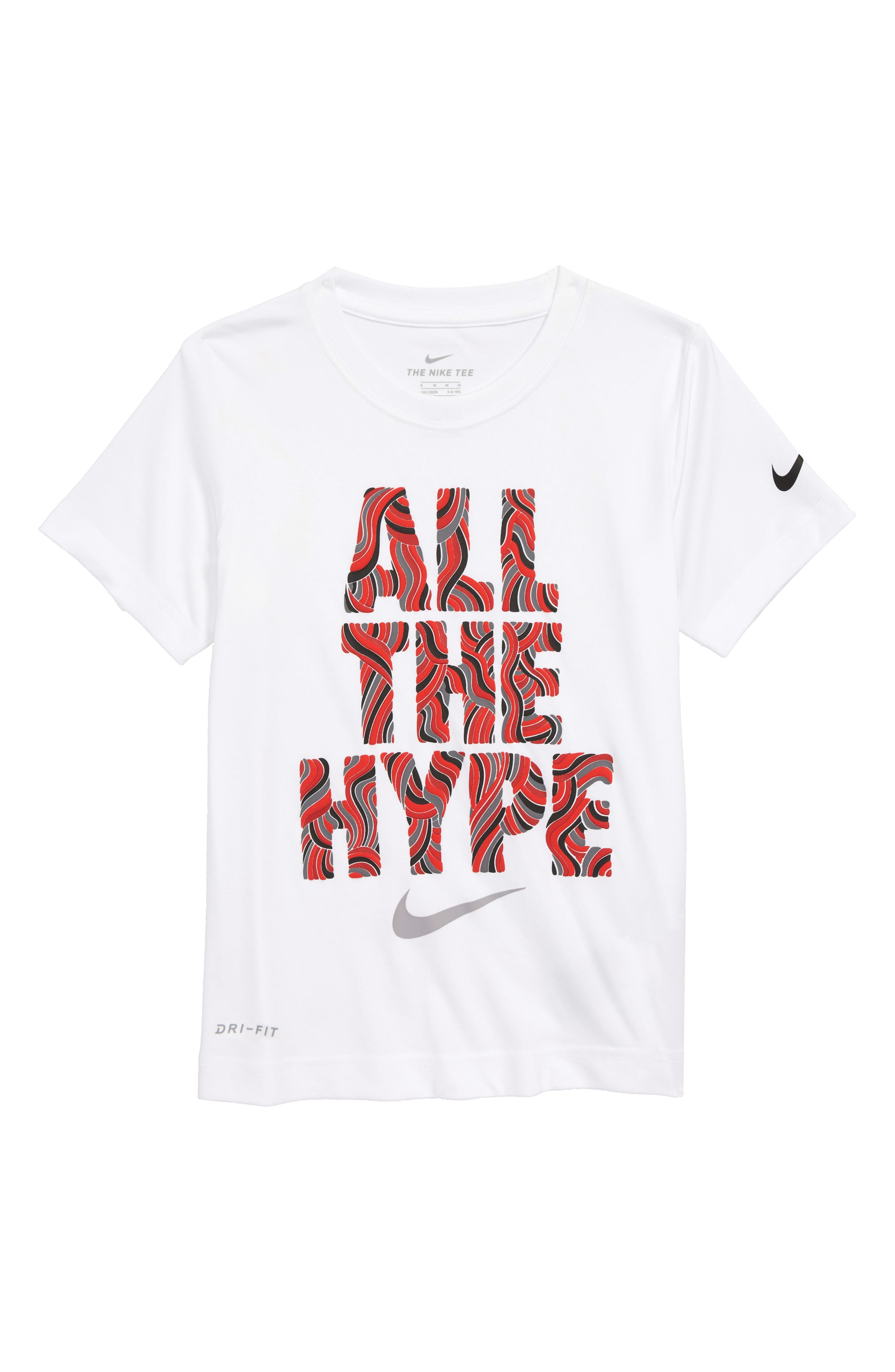 Doodle Fill Hype Graphic T-Shirt,                             Main thumbnail 1, color,                             White