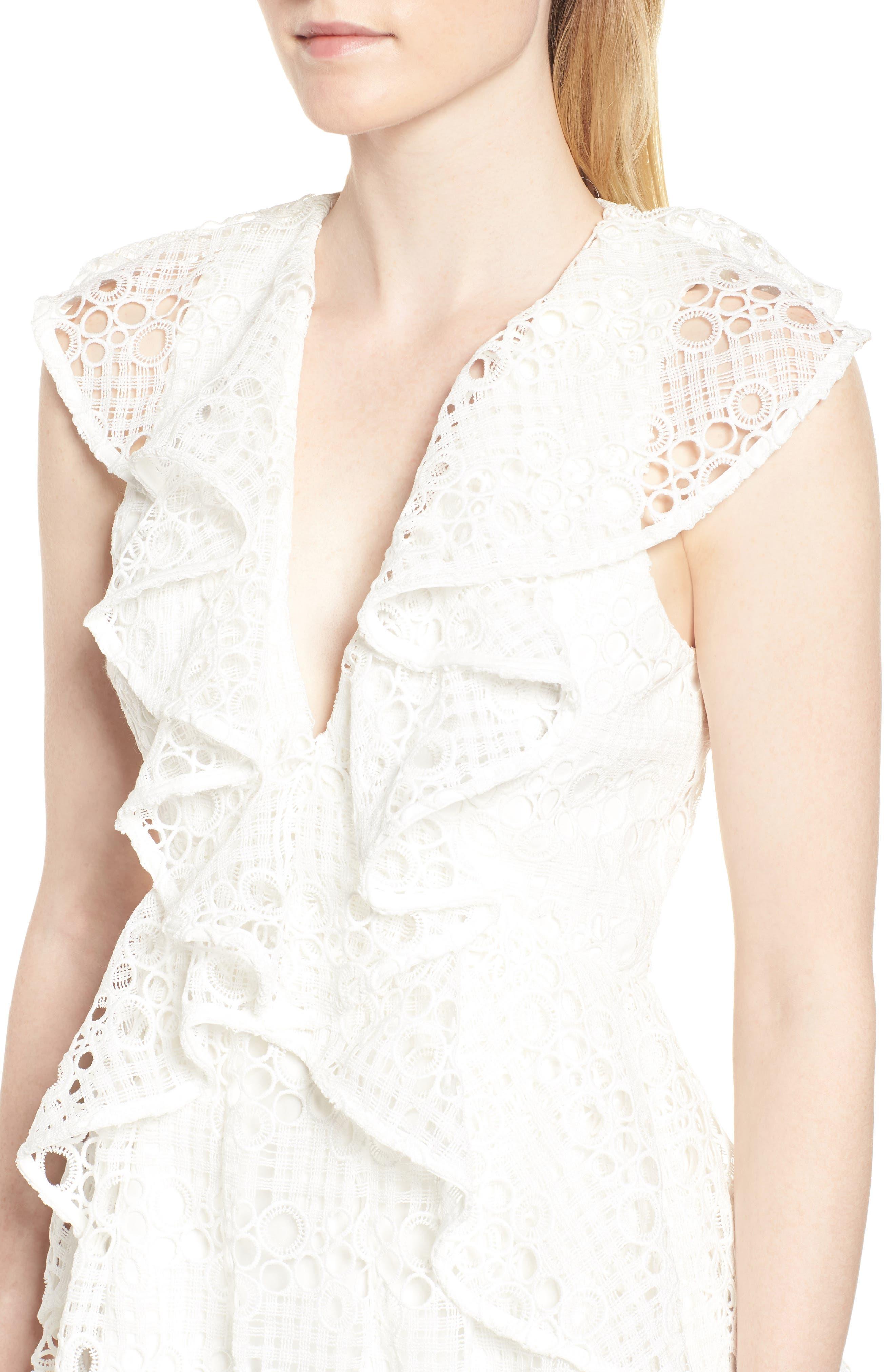 Interlude Dress,                             Alternate thumbnail 4, color,                             White