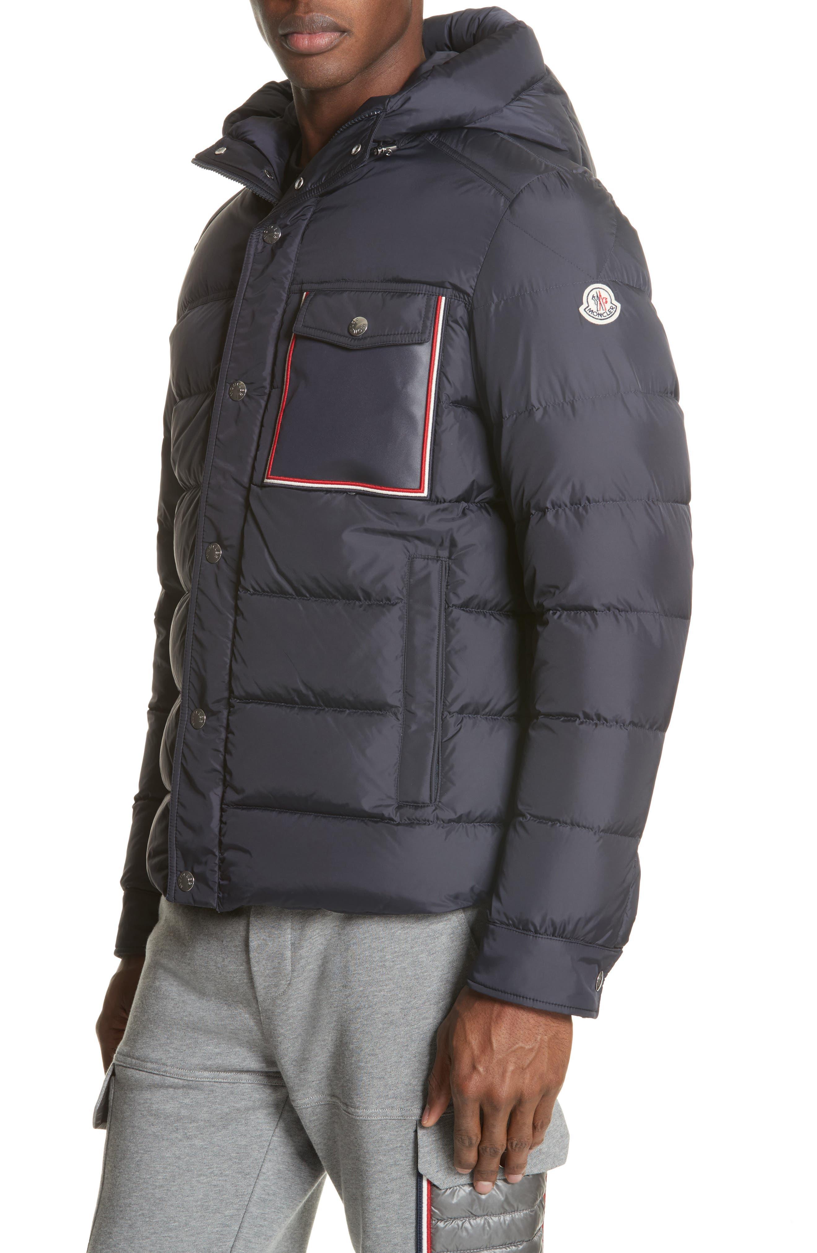 moncler down front zip hoodie