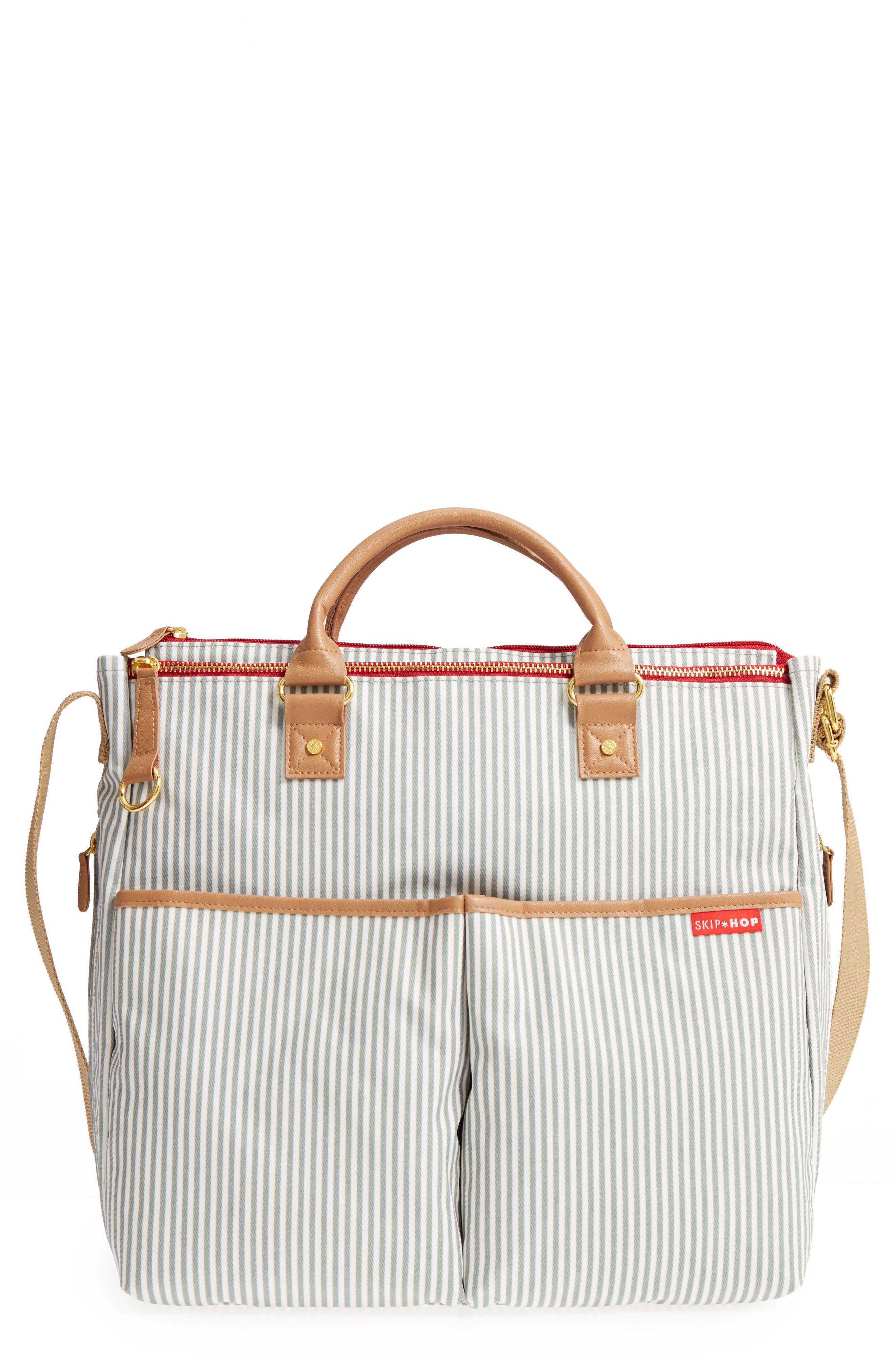 'Duo' Diaper Bag,                         Main,                         color, Grey
