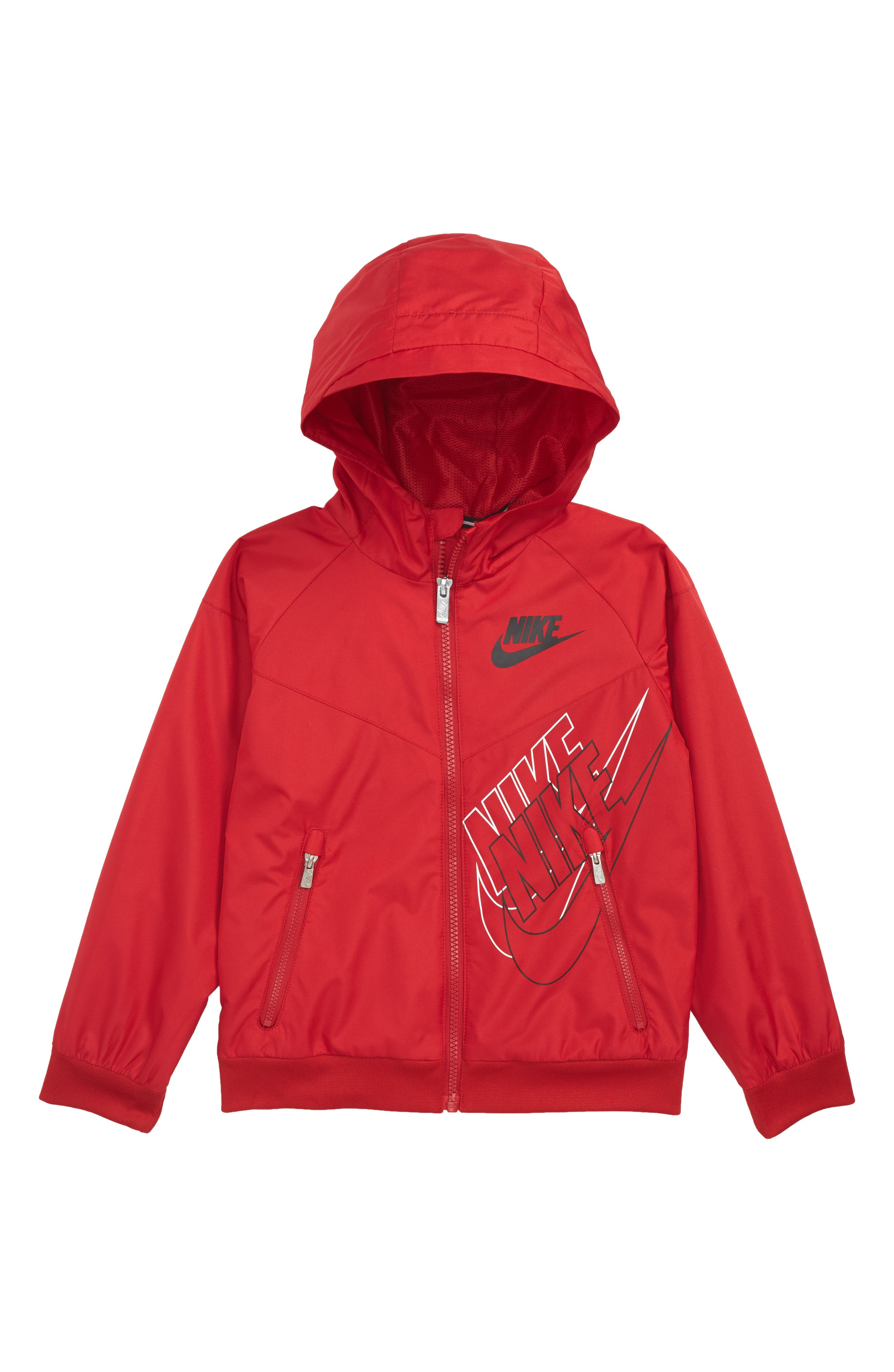 Logo Graphic Windbreaker,                         Main,                         color, Gym Red
