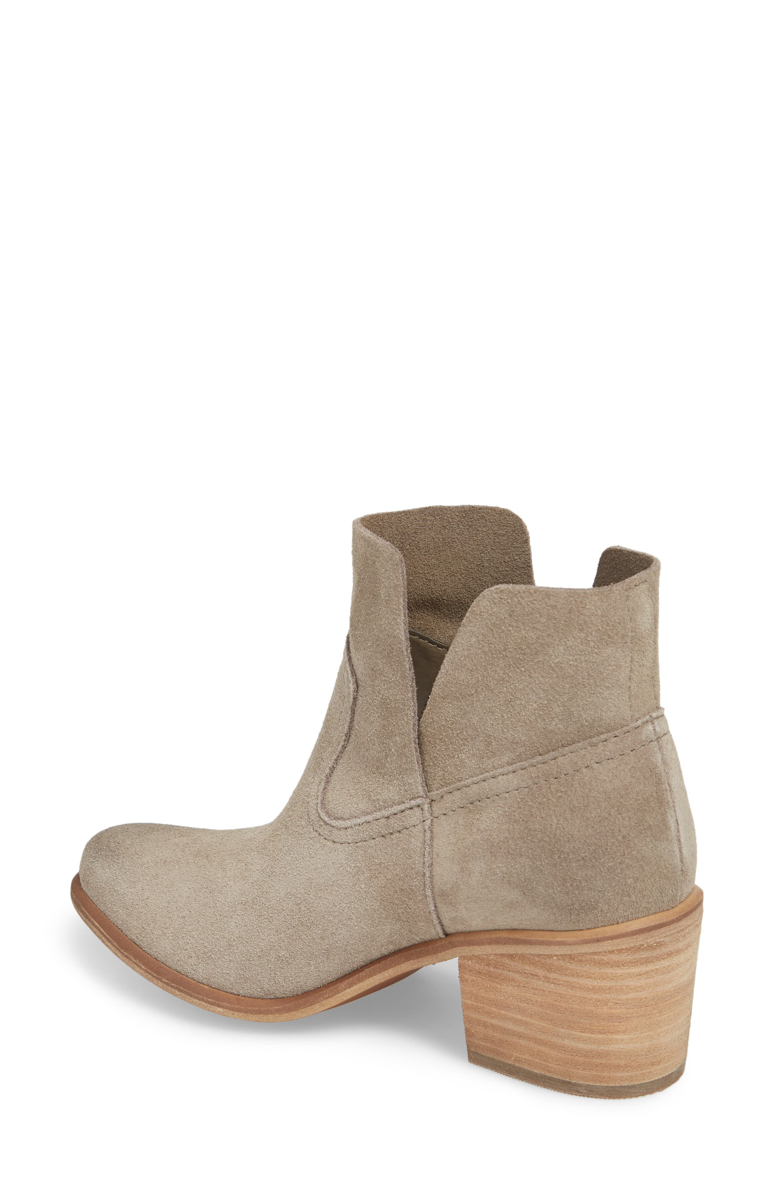 Brice Notched Bootie,                             Alternate thumbnail 2, color,                             Grey Suede