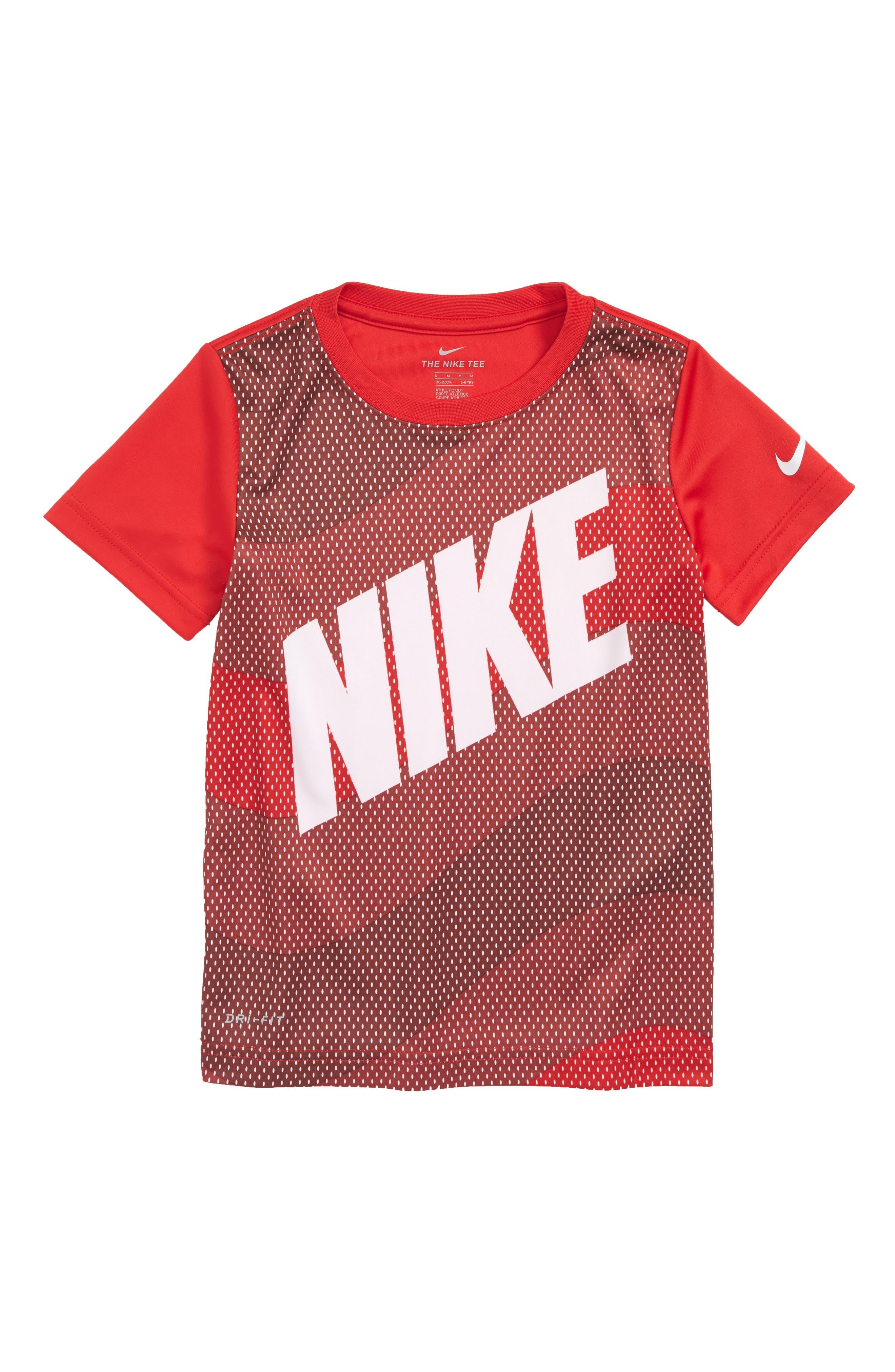 Dry Wavey Mesh Graphic T-Shirt,                             Main thumbnail 1, color,                             University Red