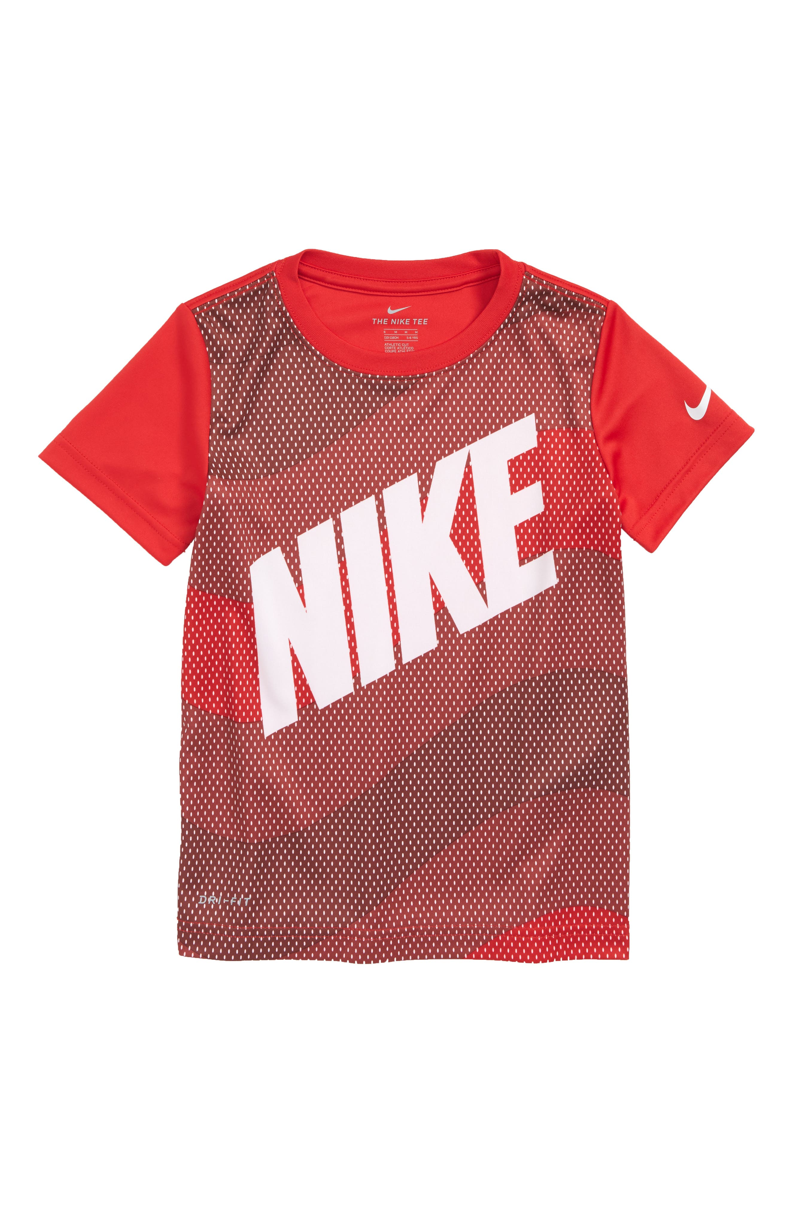 Dry Wavey Mesh Graphic T-Shirt,                         Main,                         color, University Red