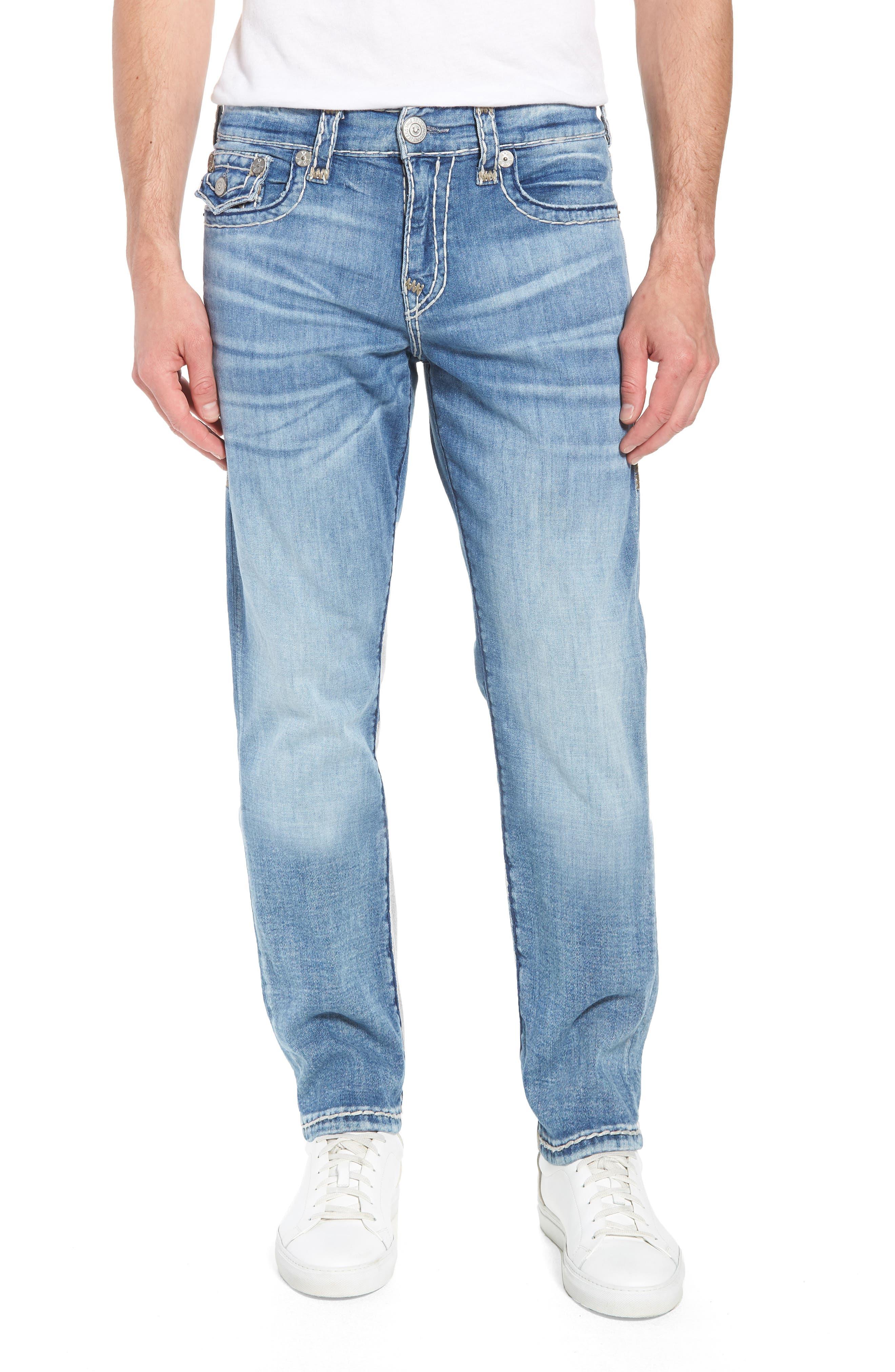 Geno Straight Leg Jeans,                         Main,                         color, Satellite
