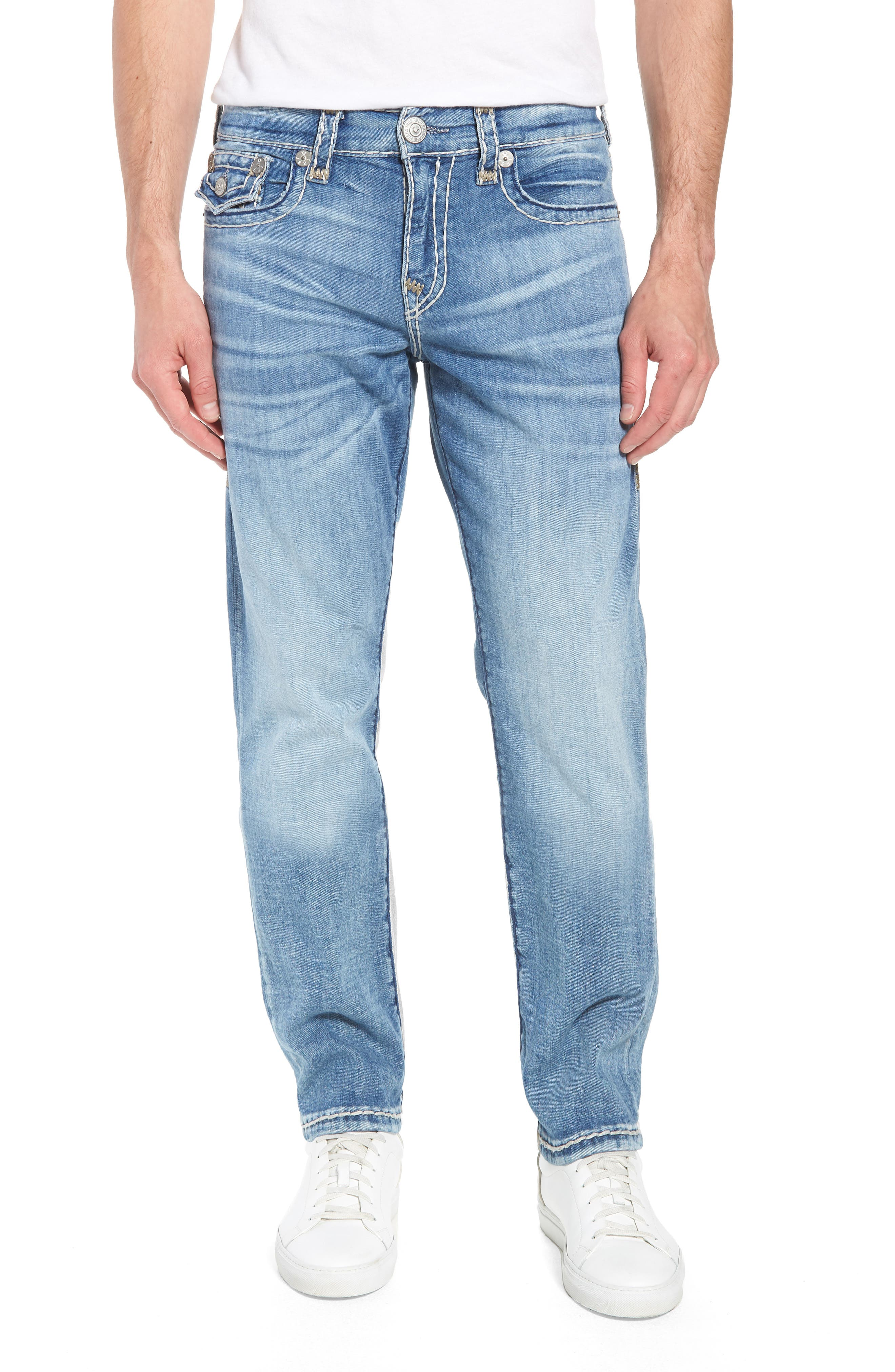 True Religion Brand Jeans Geno Straight Leg Jeans (Satellite)