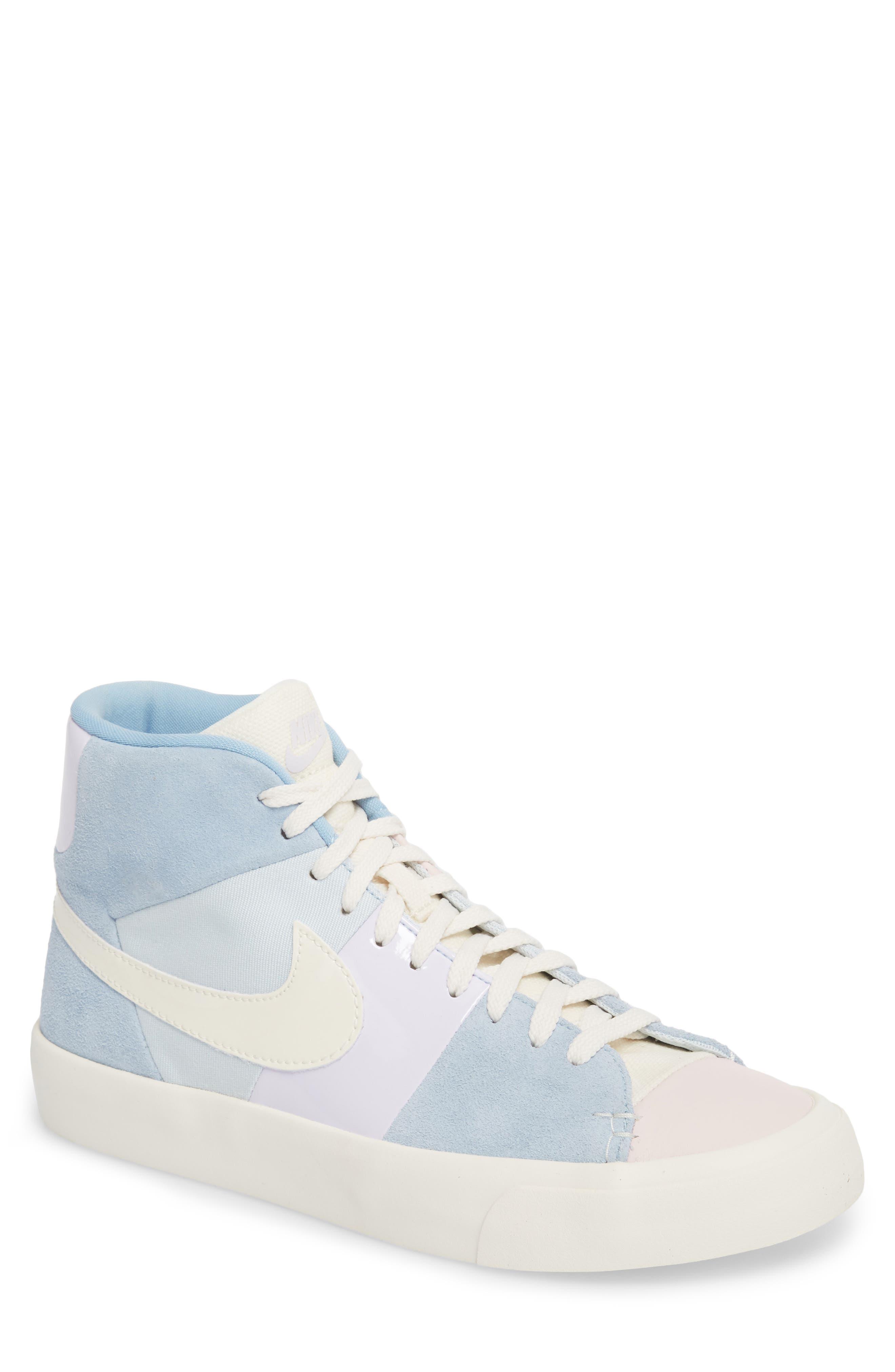 Blazer Royal Easter QS High Top Sneaker,                             Main thumbnail 1, color,                             Arctic Pink/ Sail-Blue-Blue