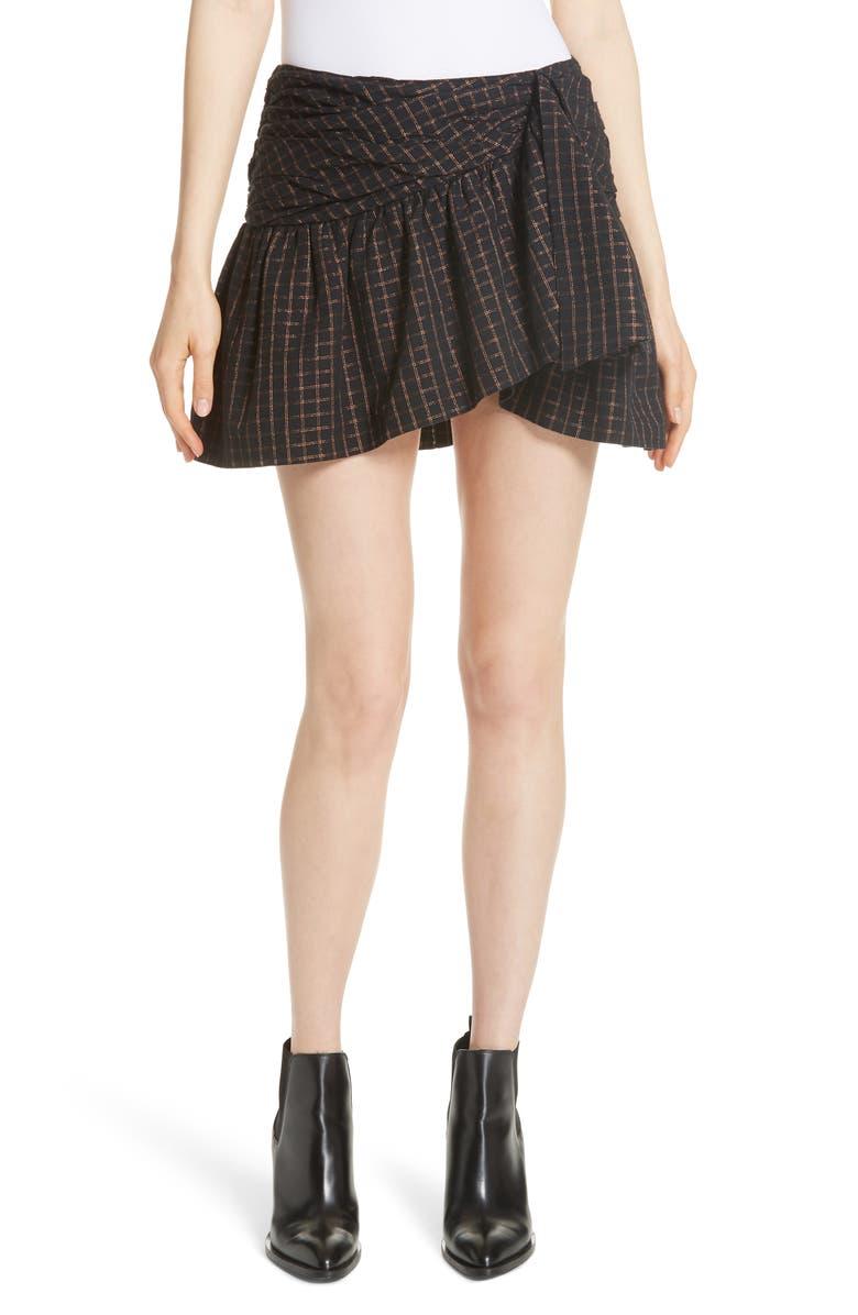 Sylvia Faux Wrap Mini Skirt